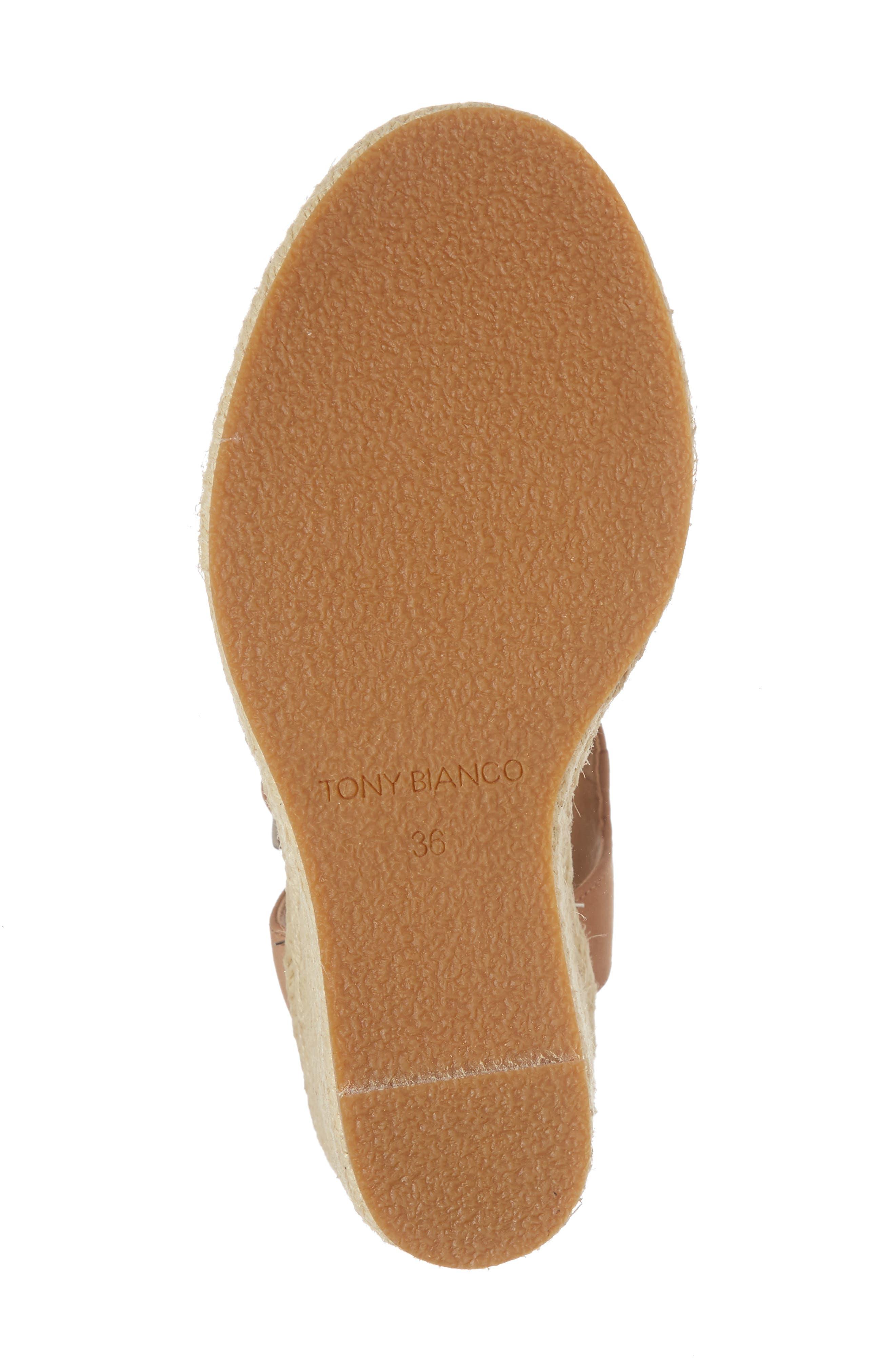 Boston Espadrille Wedge Sandal,                             Alternate thumbnail 6, color,                             Caramel Phoenix Leather