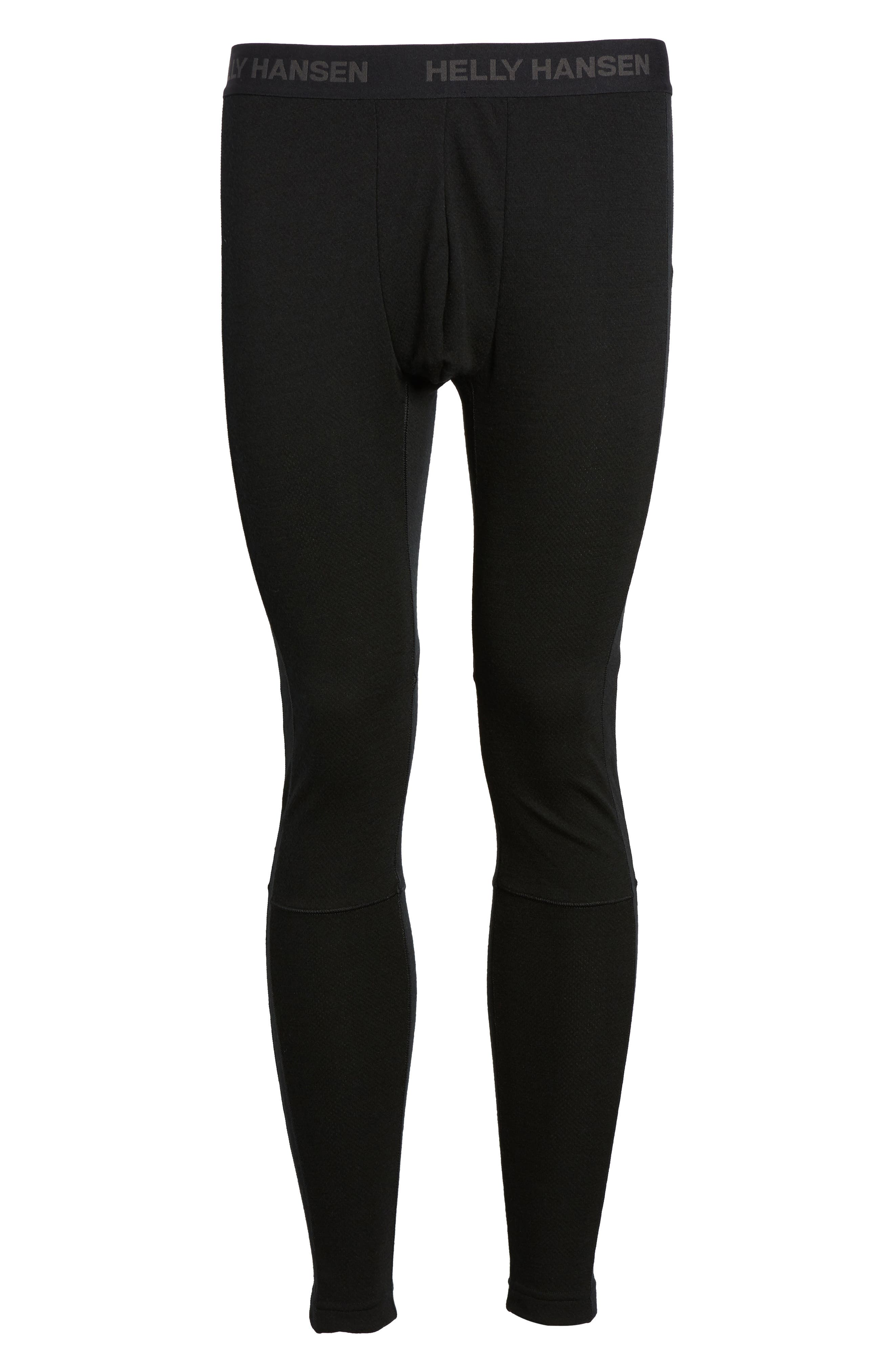 Lifa Merino Wool Blend Tights,                             Alternate thumbnail 6, color,                             Black