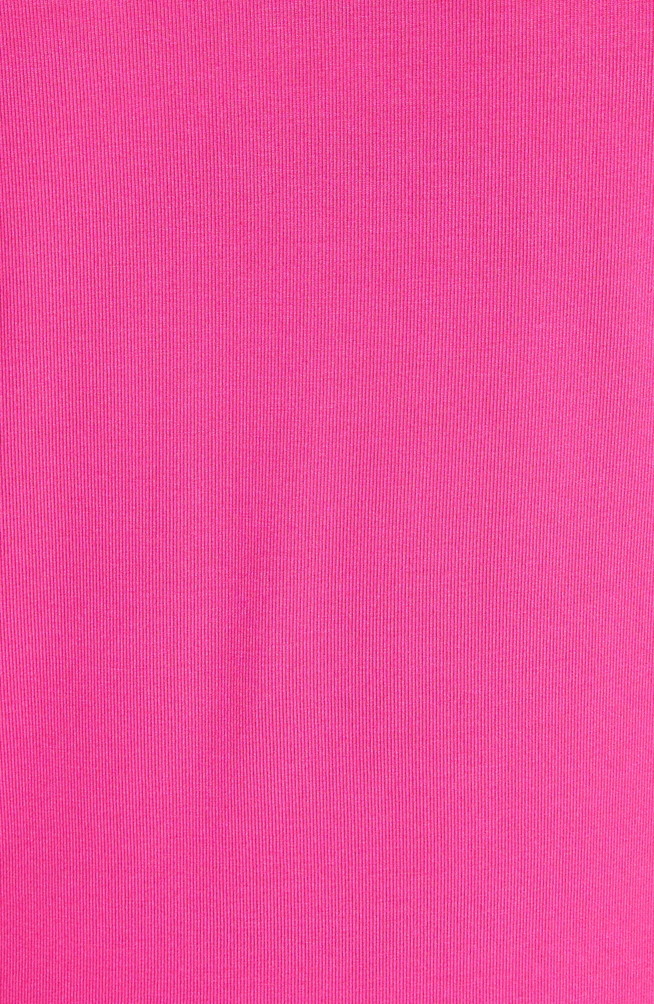 Floral Appliqué Sleeve Tee,                             Alternate thumbnail 5, color,                             Bright Pink