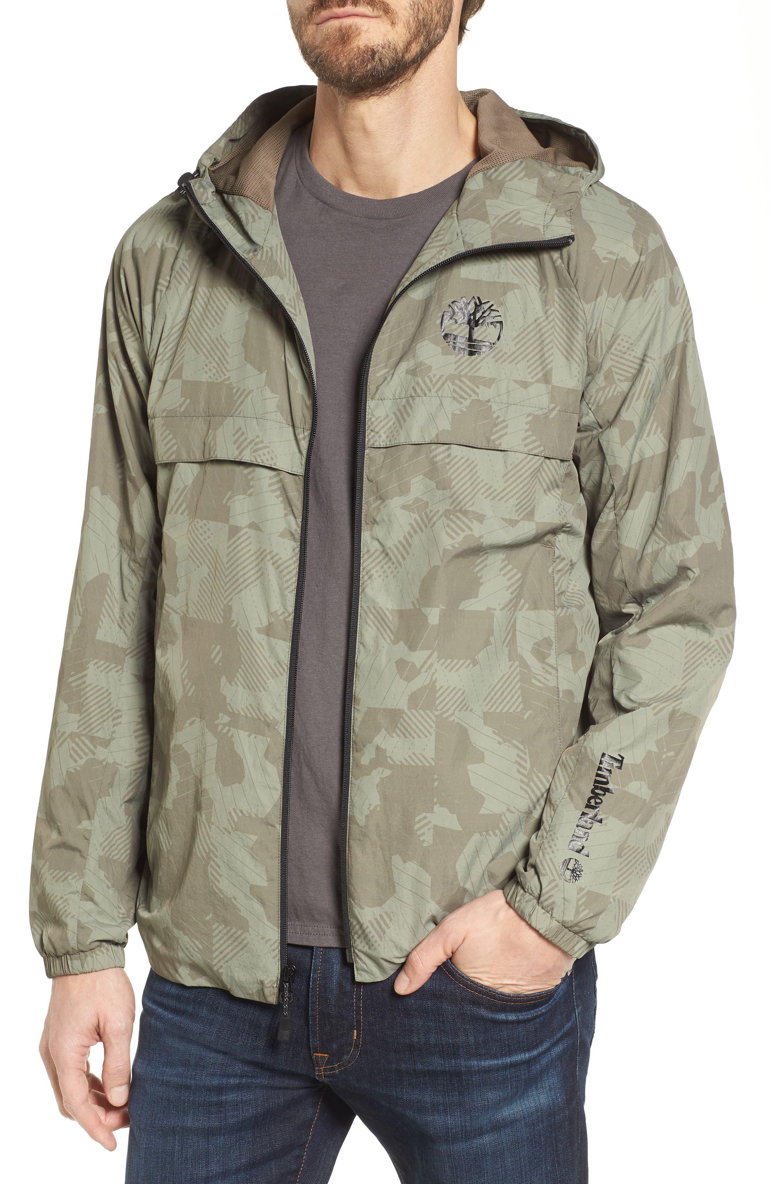 Camo Windbreaker Jacket,                         Main,                         color, Bungee Cord Camo