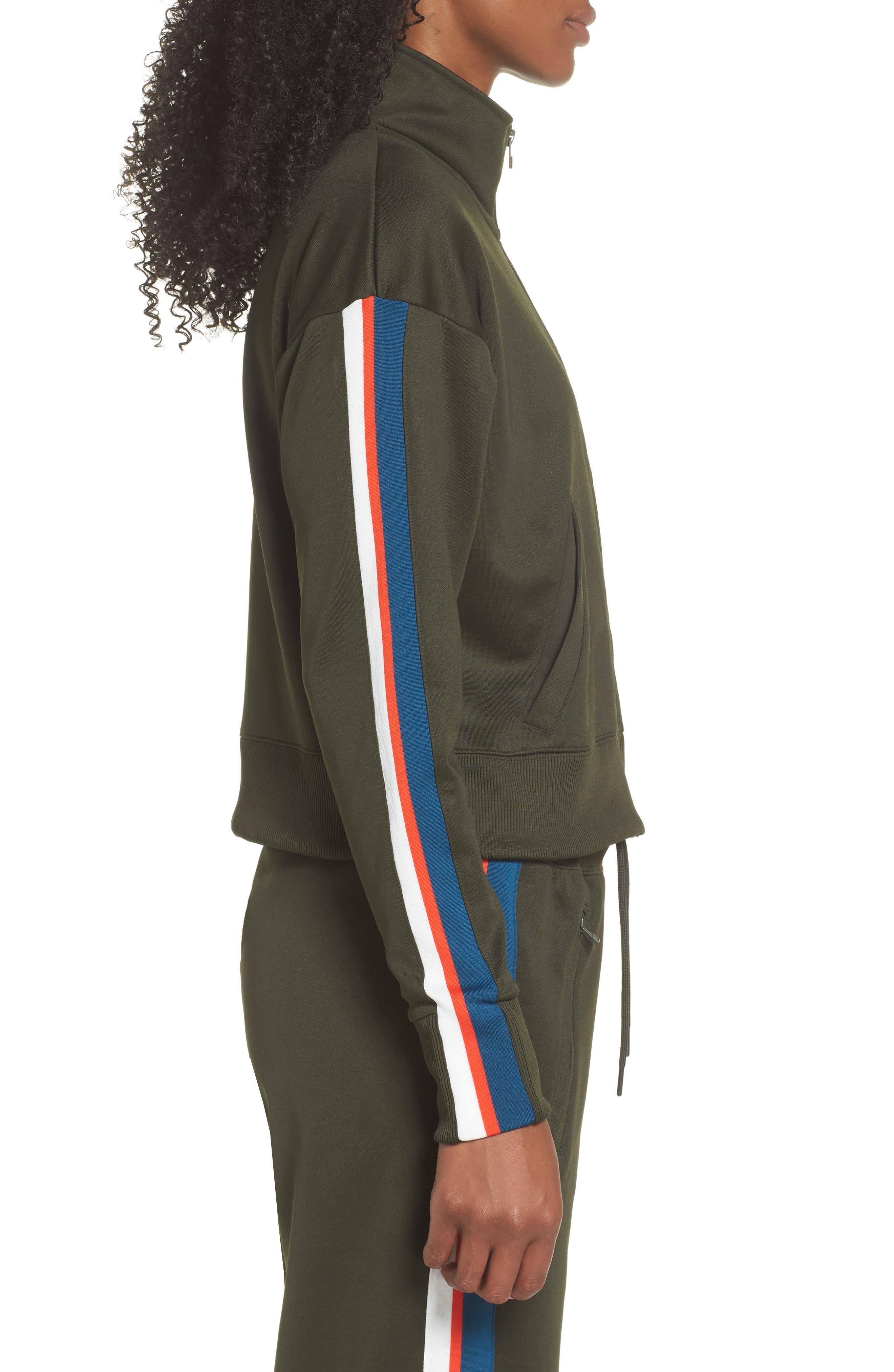 Sportswear Crop Jacket,                             Alternate thumbnail 3, color,                             Sequoia/ Sail
