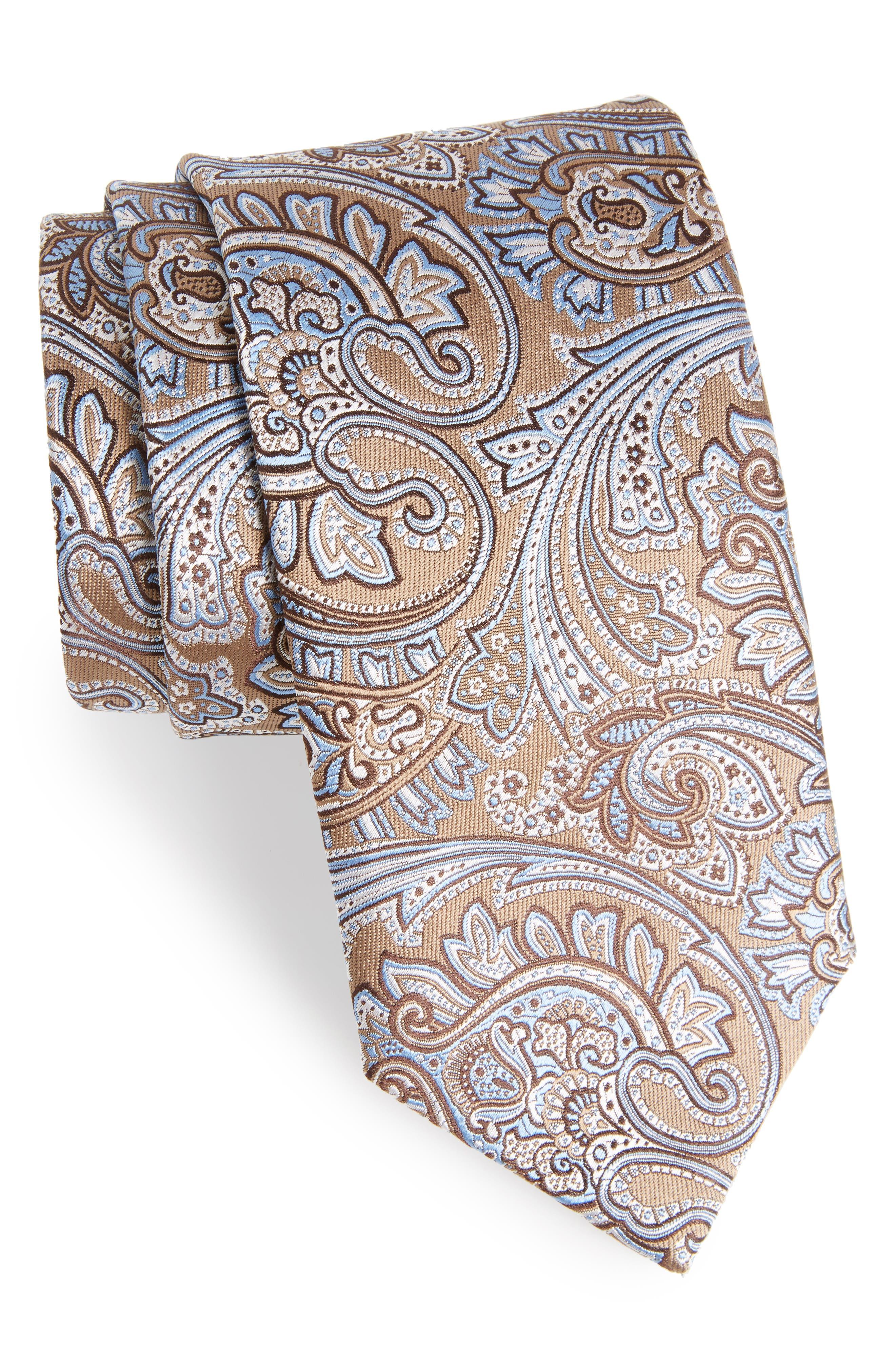 David Donahue Paisley Silk Tie