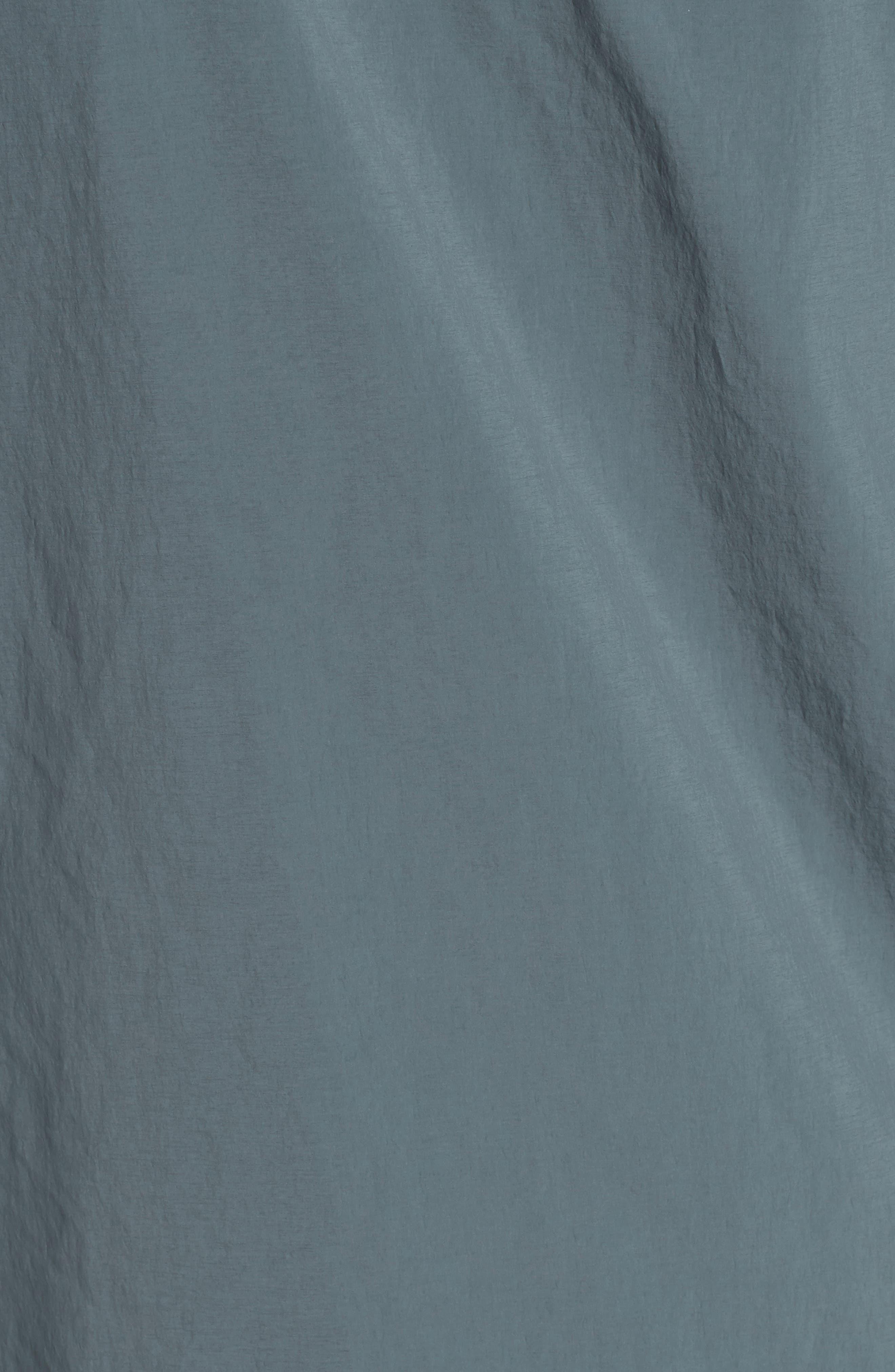 Plaster Hooded Raincoat,                             Alternate thumbnail 5, color,                             Blue/ Grey