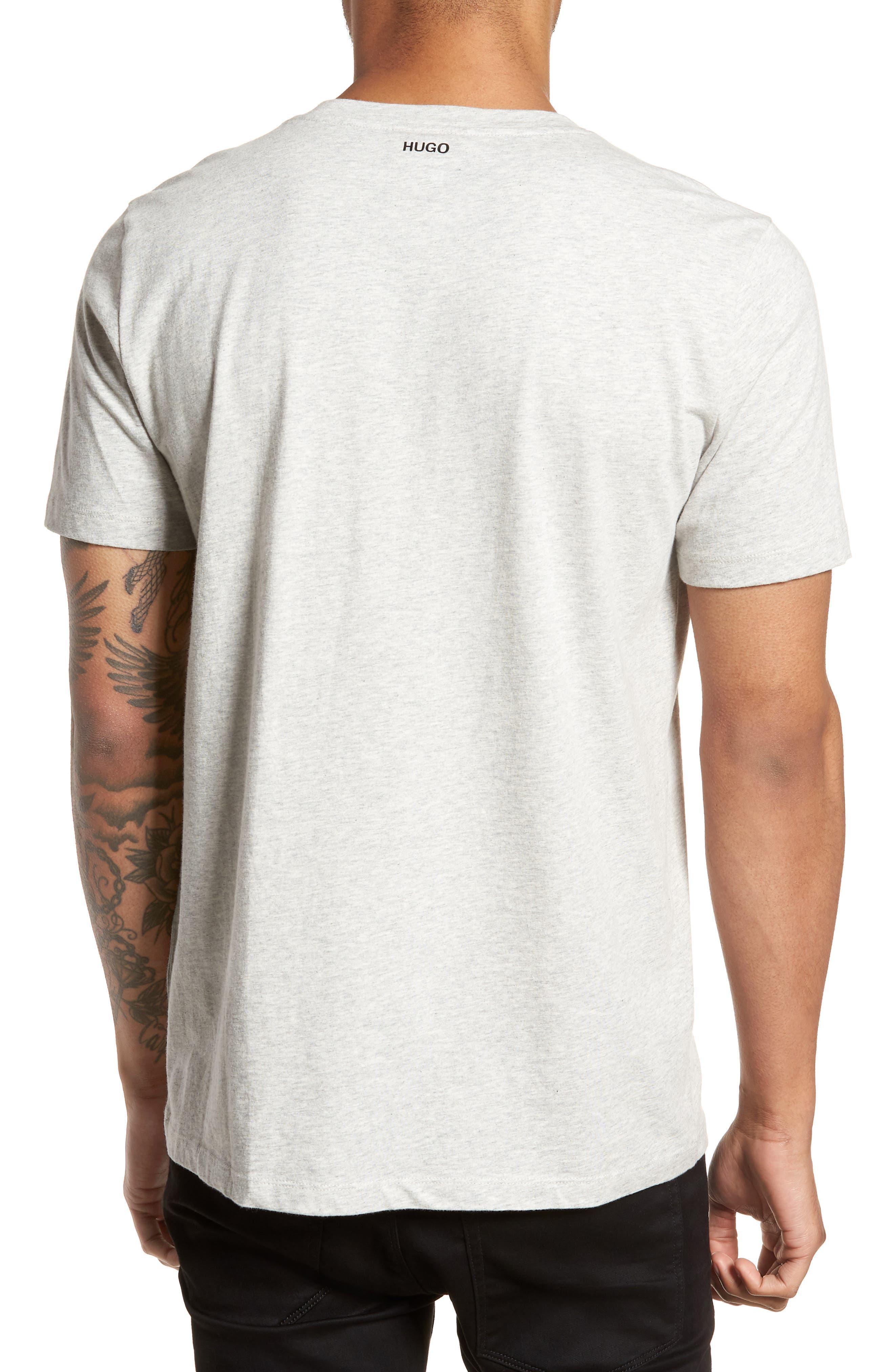 Drush Slim Fit Graphic T-Shirt,                             Alternate thumbnail 2, color,                             Grey