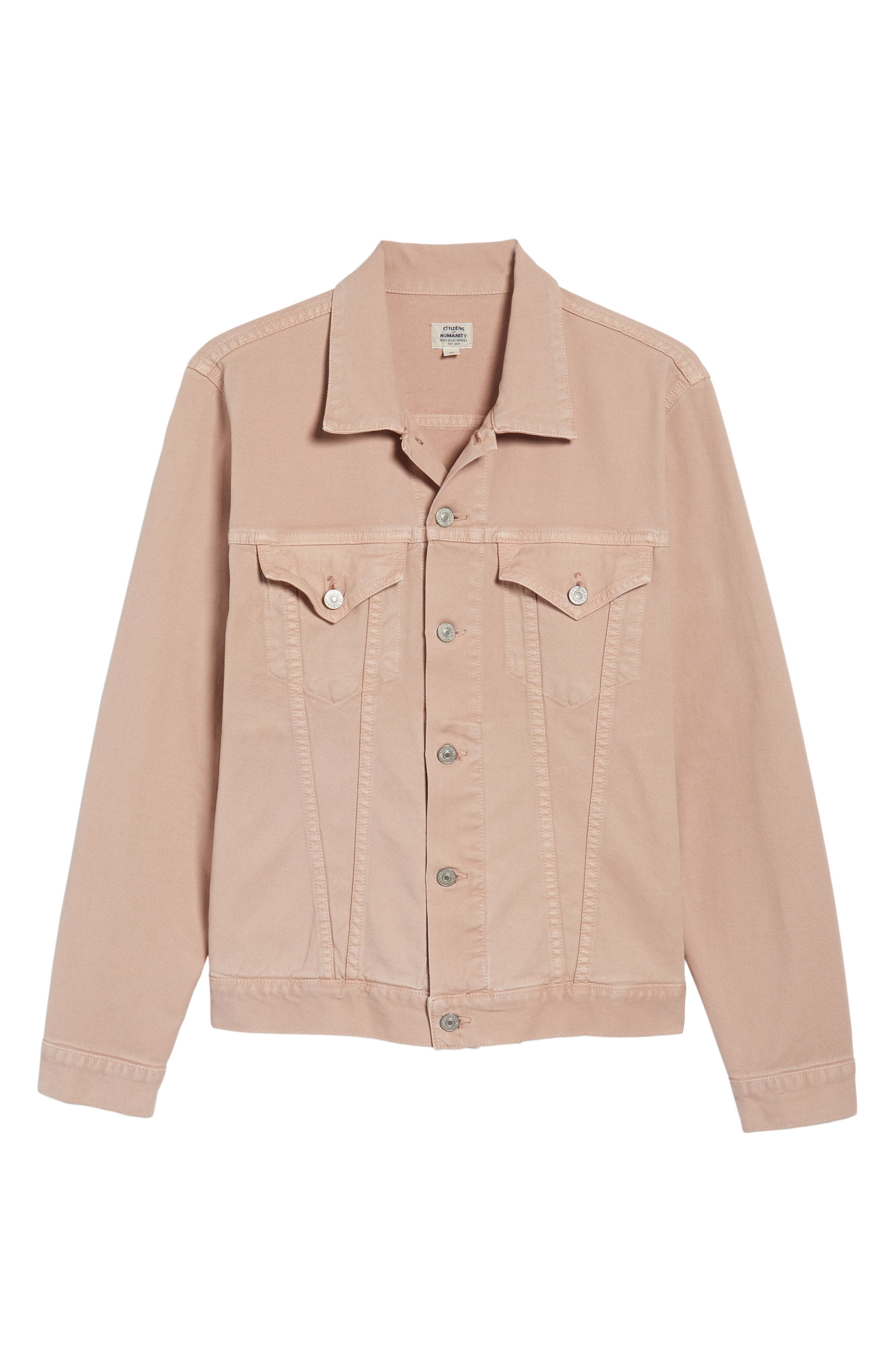 Classic Denim Jacket,                             Alternate thumbnail 6, color,                             Muted Clay