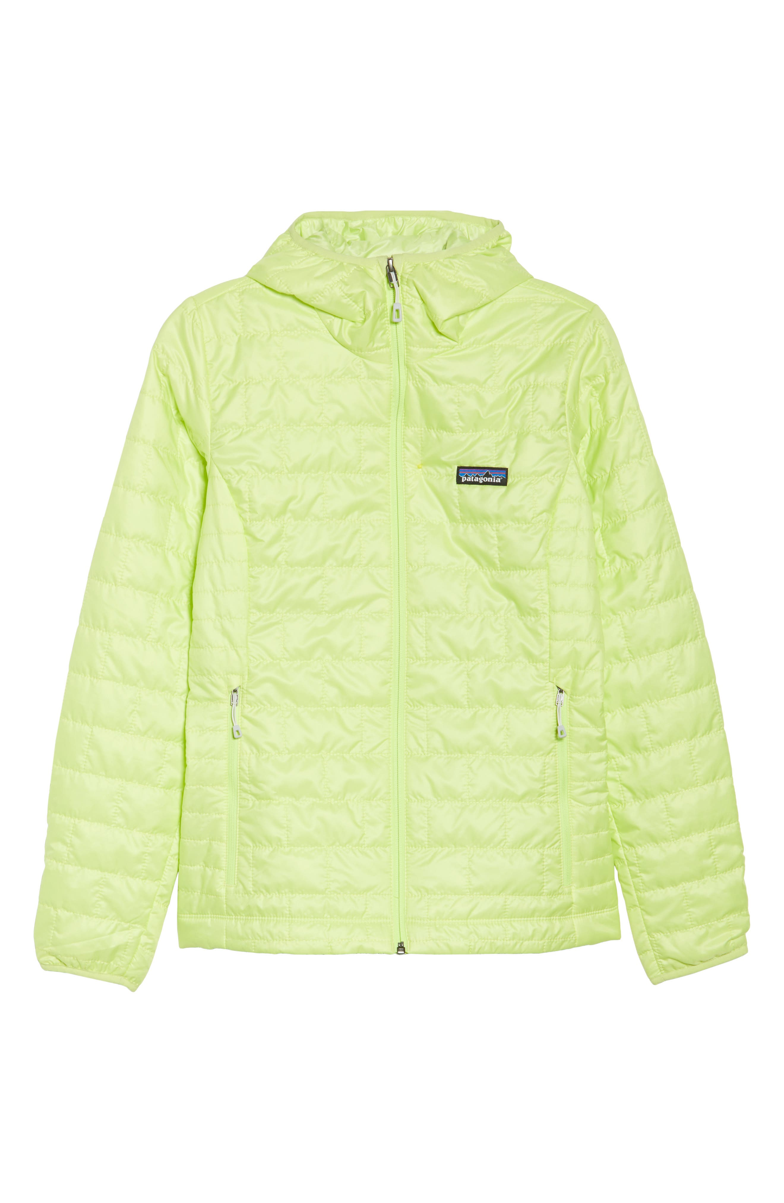 Nano Puff<sup>®</sup> Hooded Water Resistant Jacket,                             Alternate thumbnail 7, color,                             Celery Green