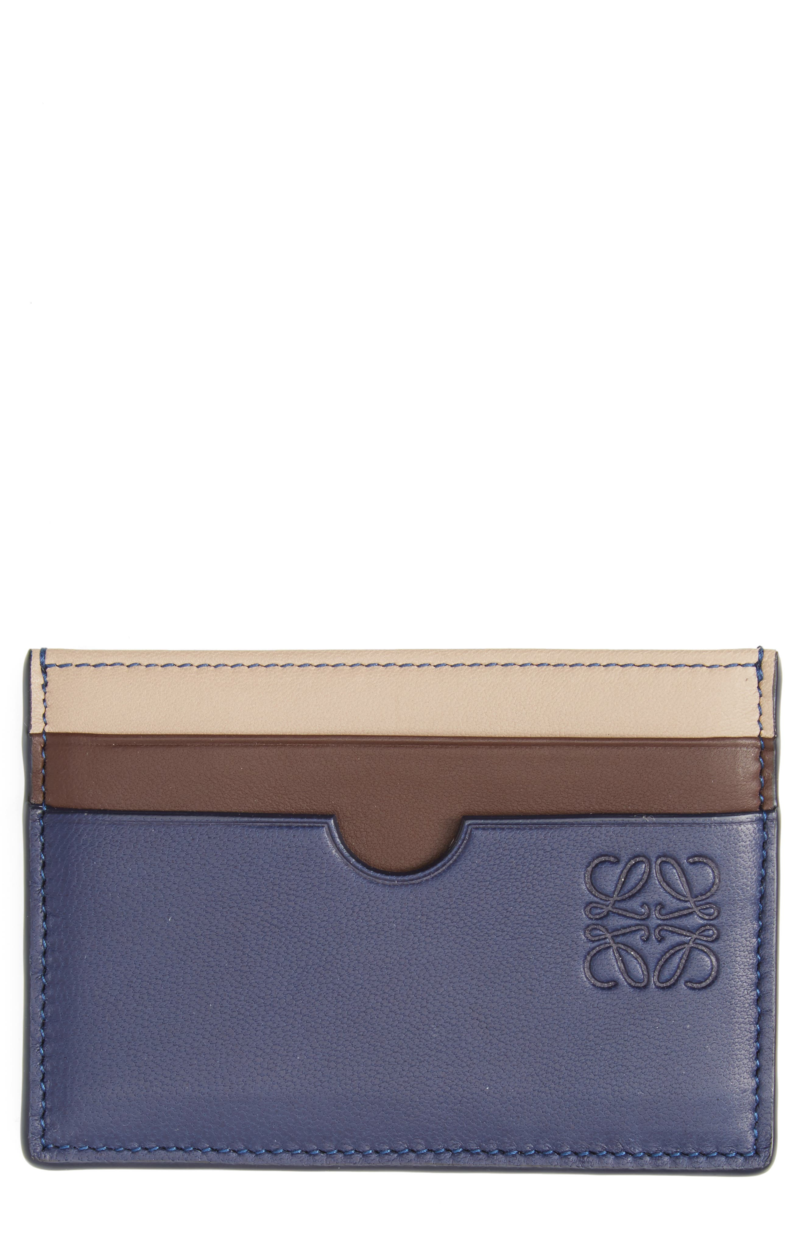Loewe Tricolor Leather Card Case