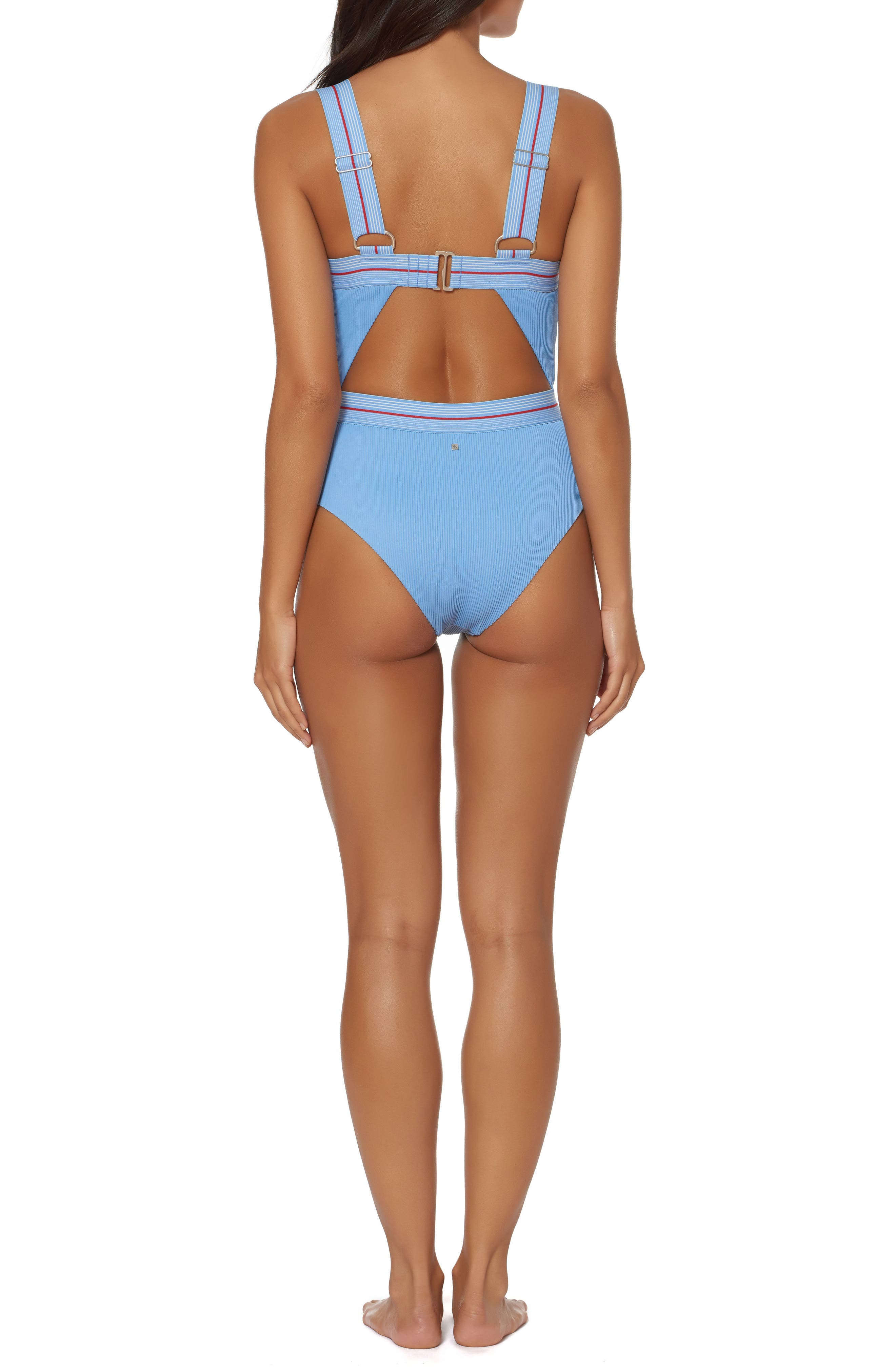 Bondi Beach One-Piece Swimsuit,                             Alternate thumbnail 2, color,                             Chambray