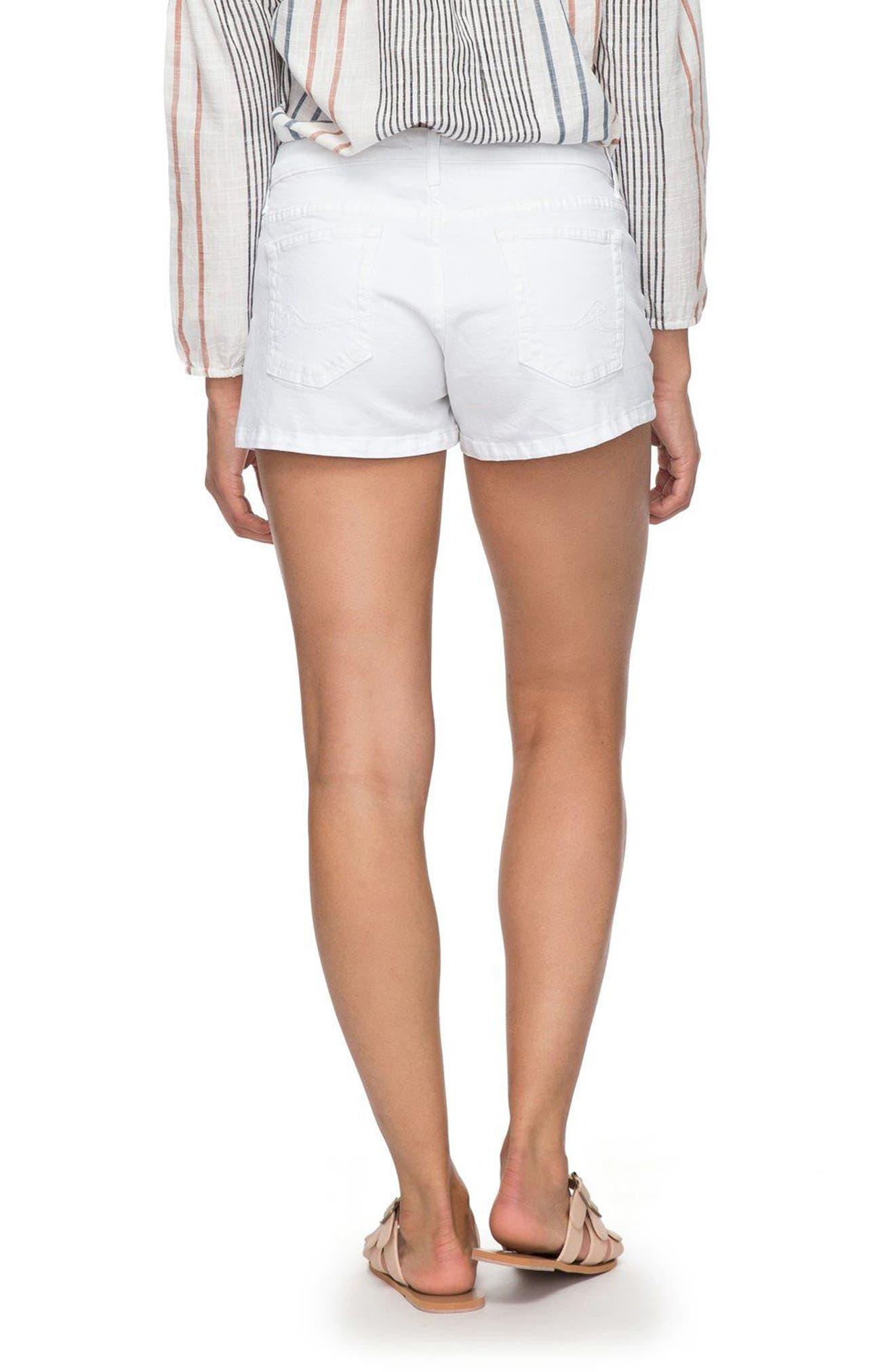 Seatripper Denim Shorts,                             Alternate thumbnail 3, color,                             White
