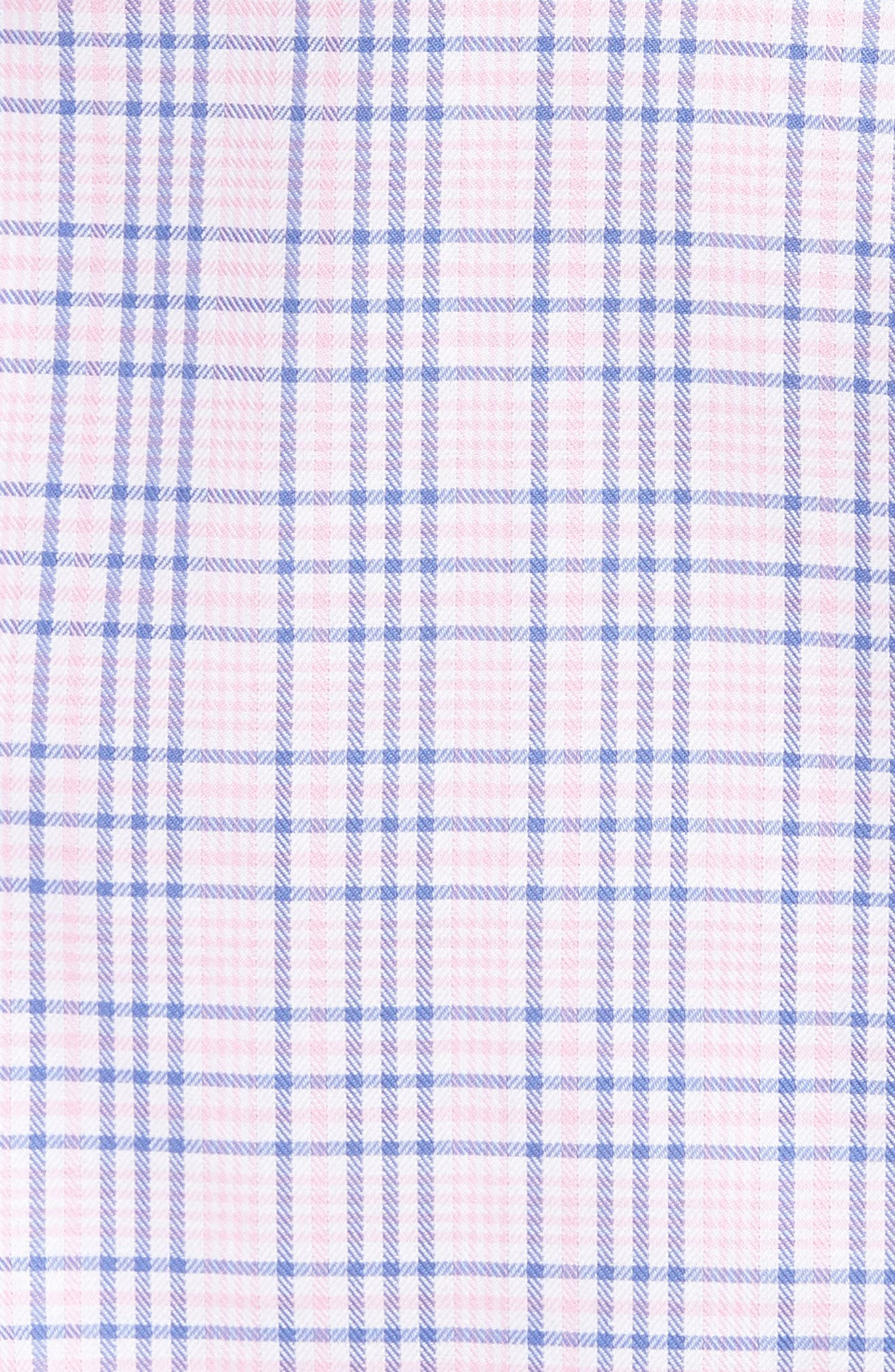 Barry Regular Fit Plaid Sport Shirt,                             Alternate thumbnail 5, color,                             Pink