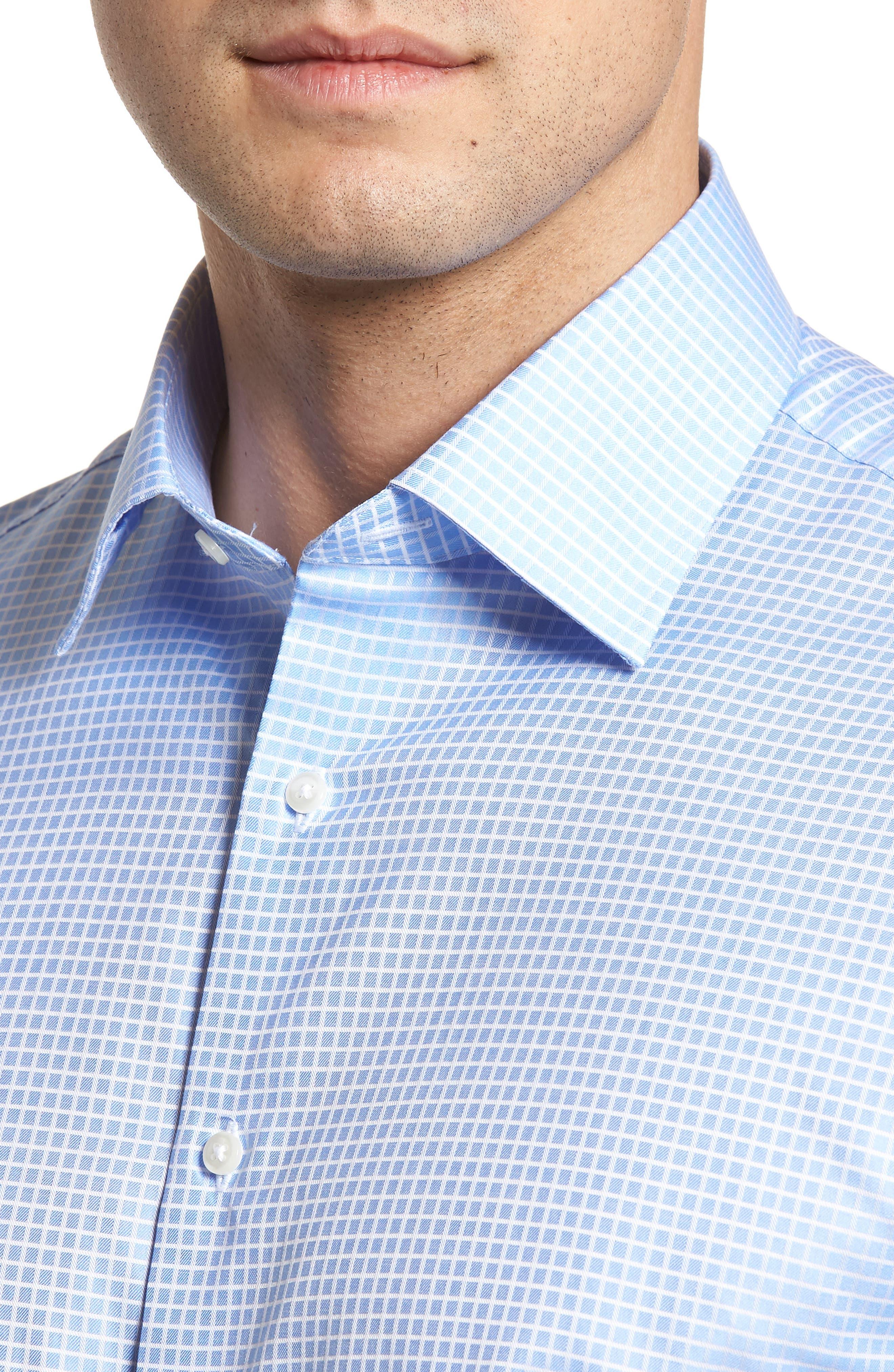 Classic Fit Check Dress Shirt,                             Alternate thumbnail 2, color,                             Blue Hydrangea