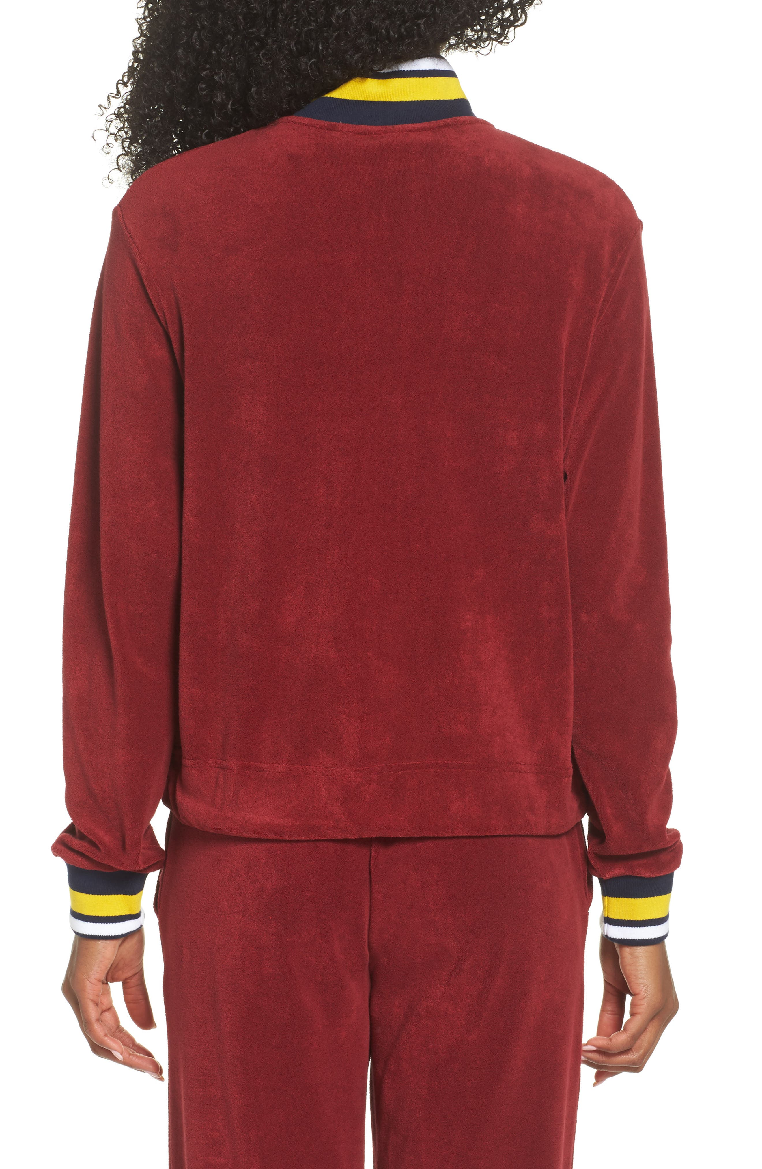 Sportswear French Terry Jacket,                             Alternate thumbnail 2, color,                             Team Red/ Team Red/ Obsidian