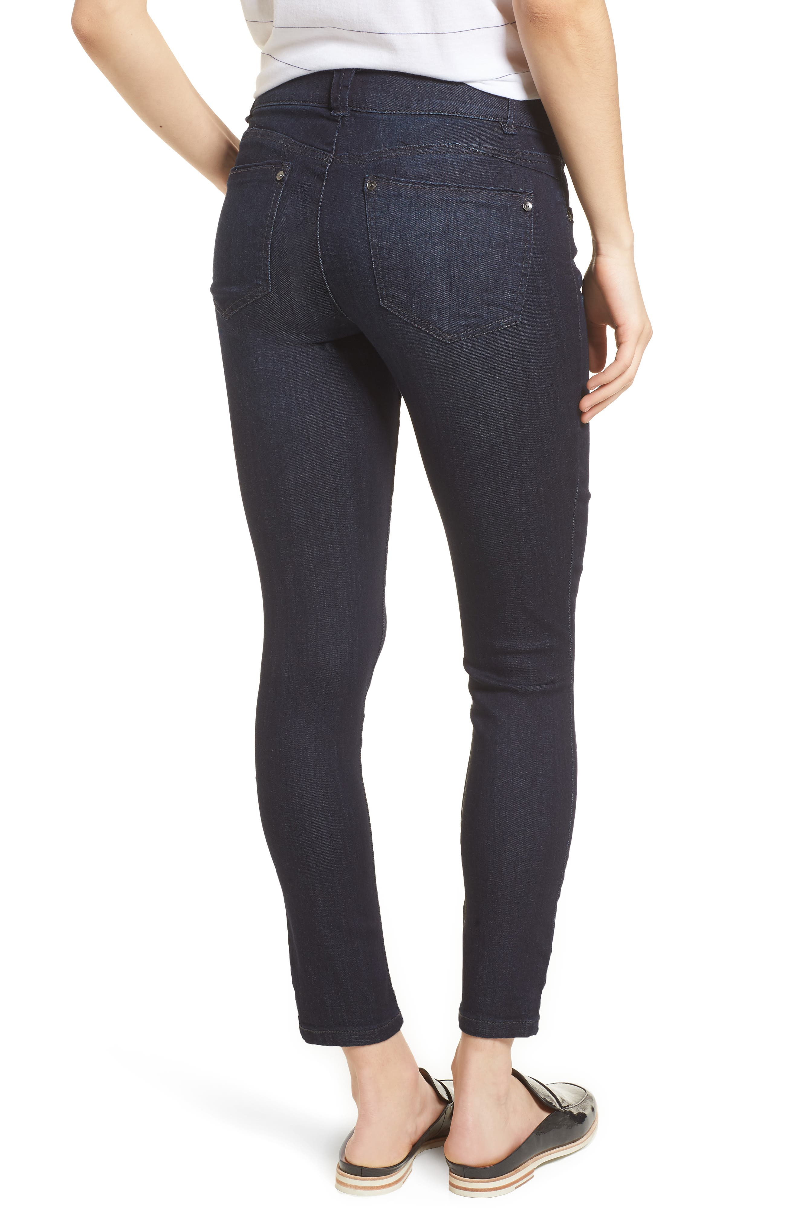Ab-solution Ankle Skimmer Jeans,                             Alternate thumbnail 2, color,                             In- Indigo