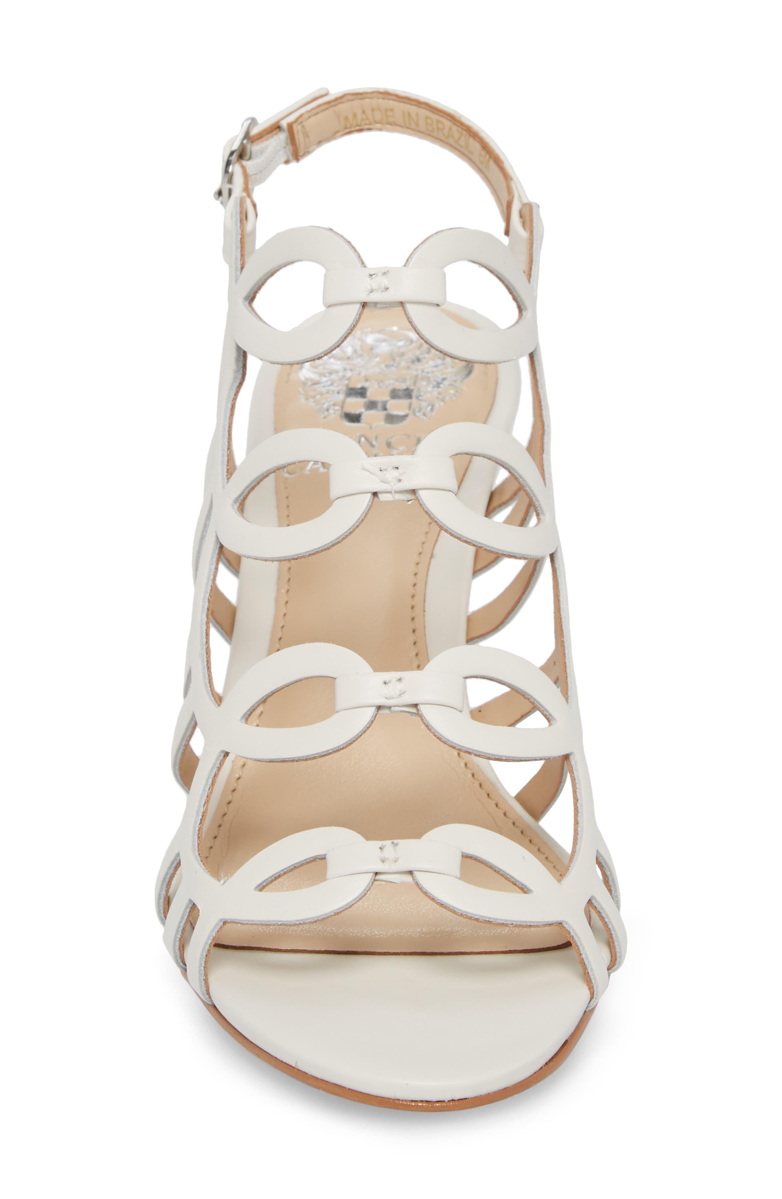 Petina Sandal,                             Alternate thumbnail 4, color,                             White Leather