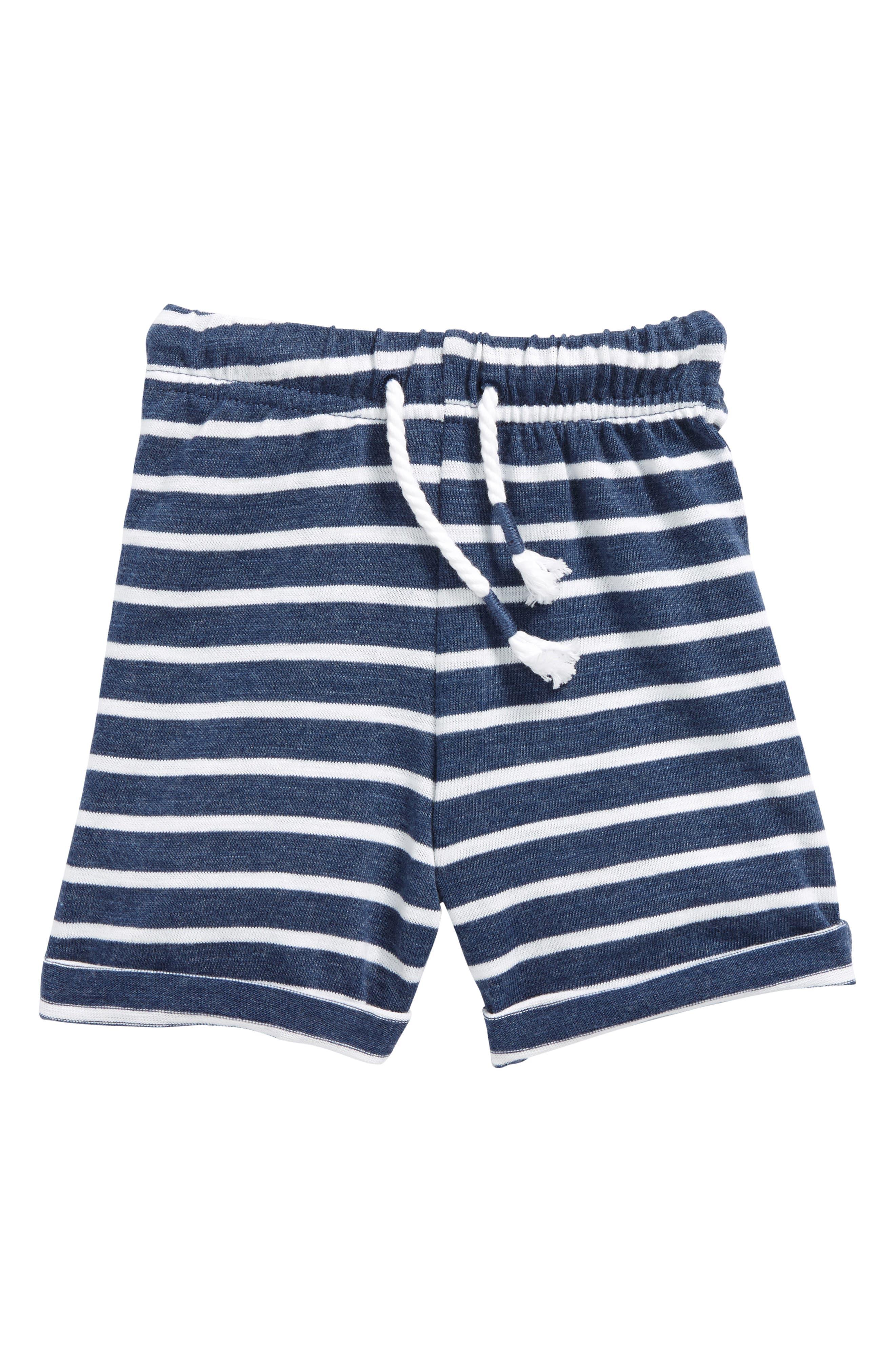 Stripe Shorts,                             Main thumbnail 1, color,                             Navy Striped