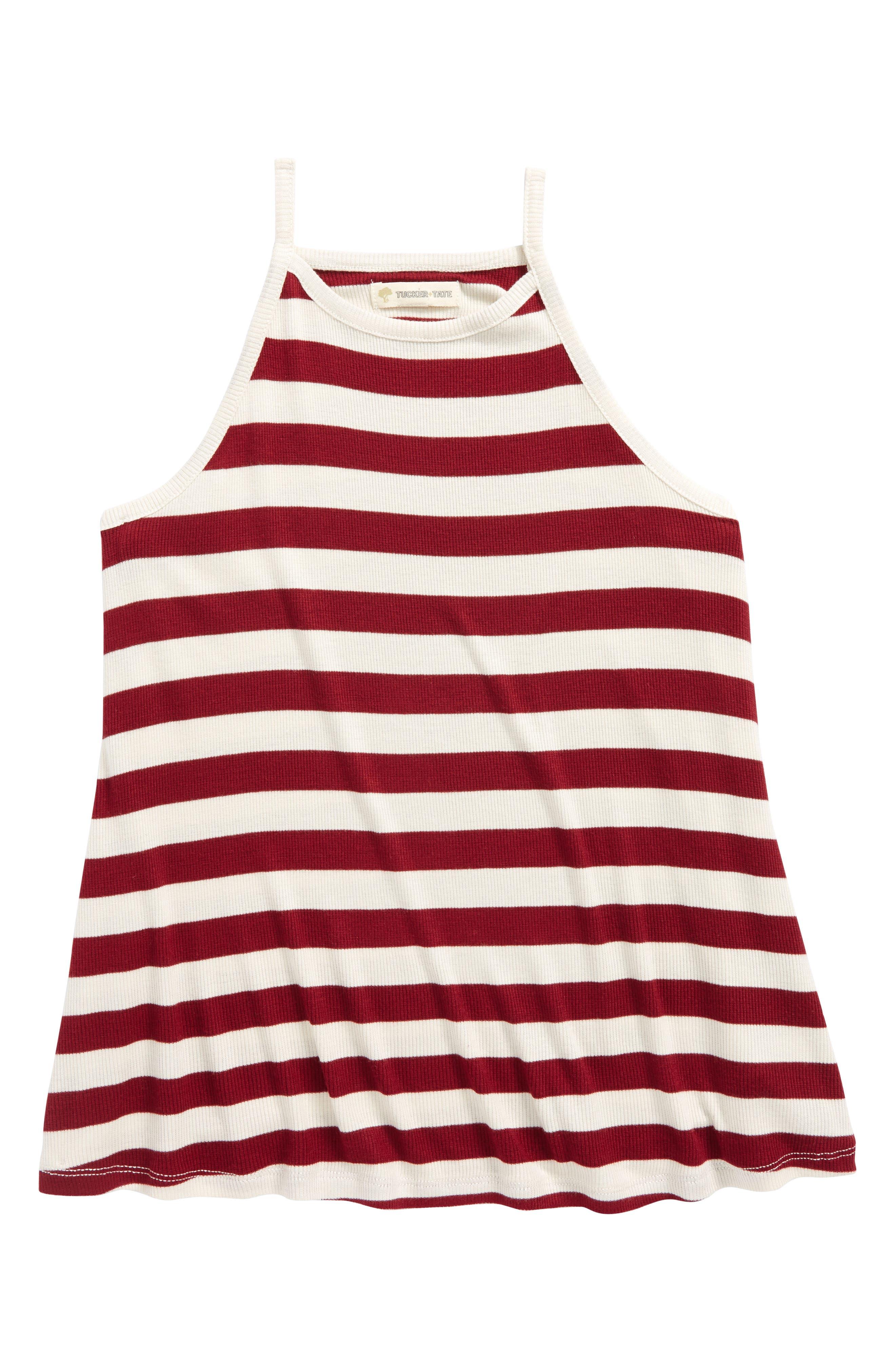 Swing Tank,                             Main thumbnail 1, color,                             Red Samba- Ivory Stripe