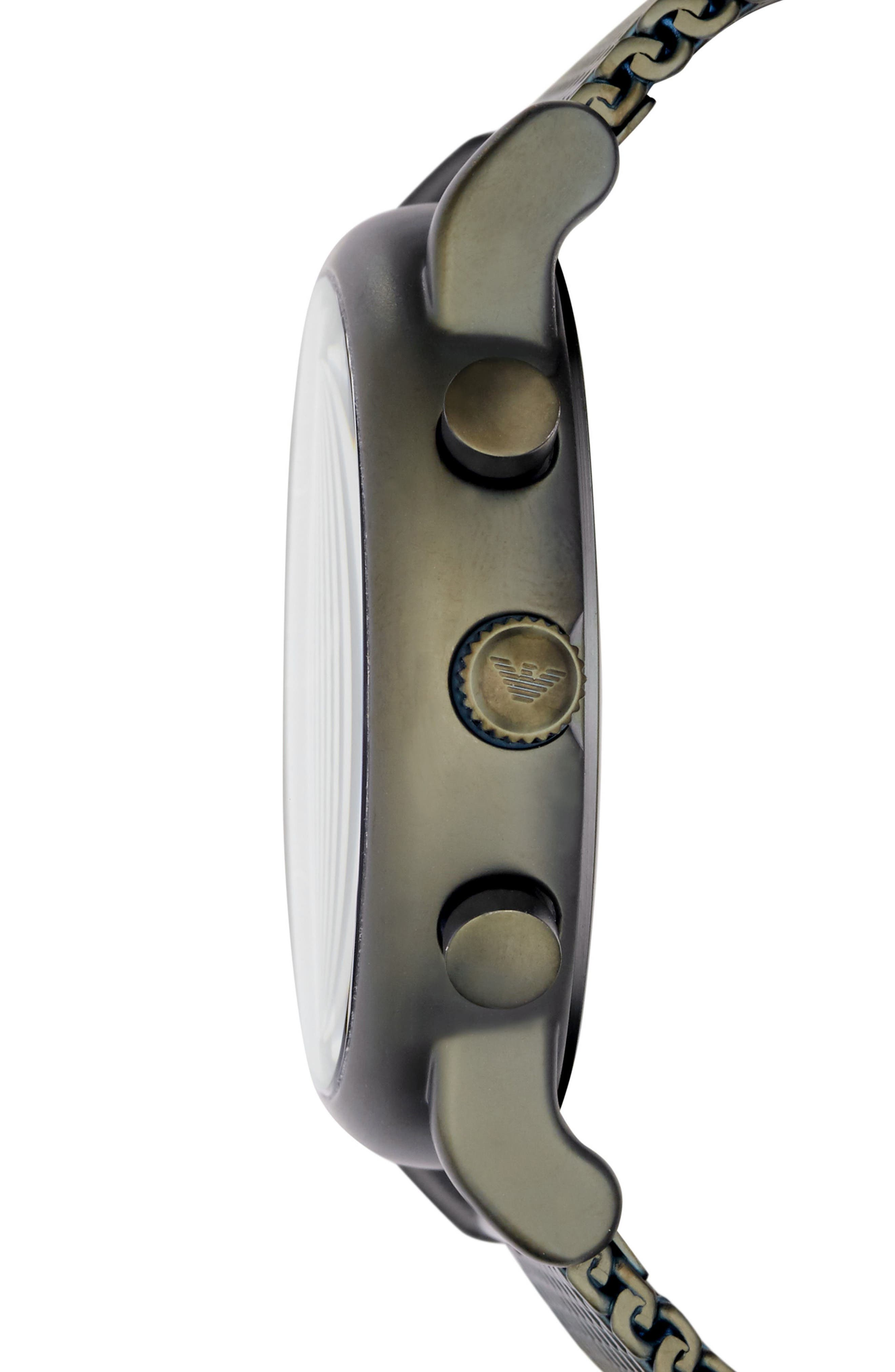 Alternate Image 2  - Emporio Armani Chronograph Mesh Strap Watch, 43mm