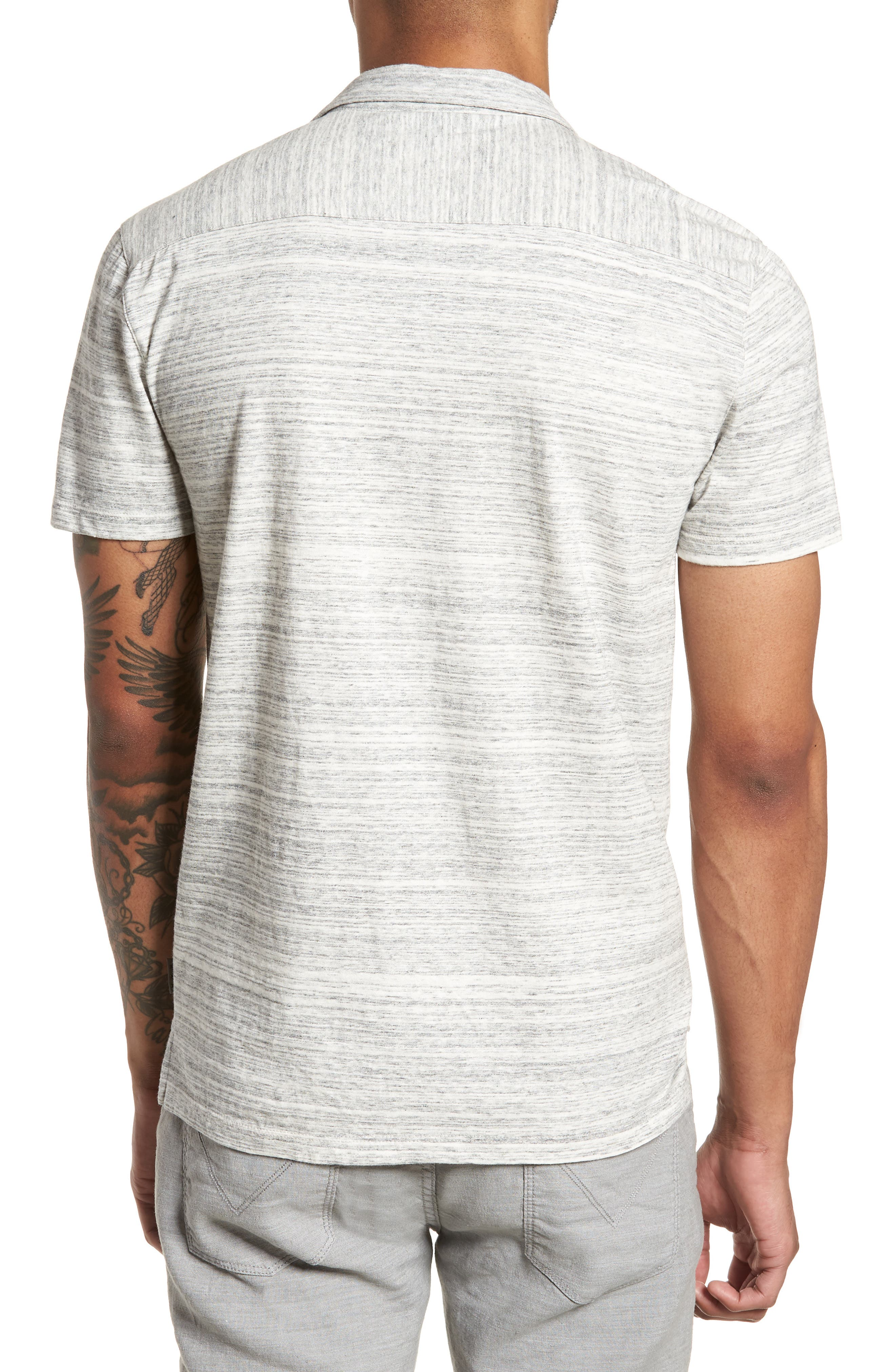 Slim Fit Polo,                             Alternate thumbnail 2, color,                             Griffin Grey