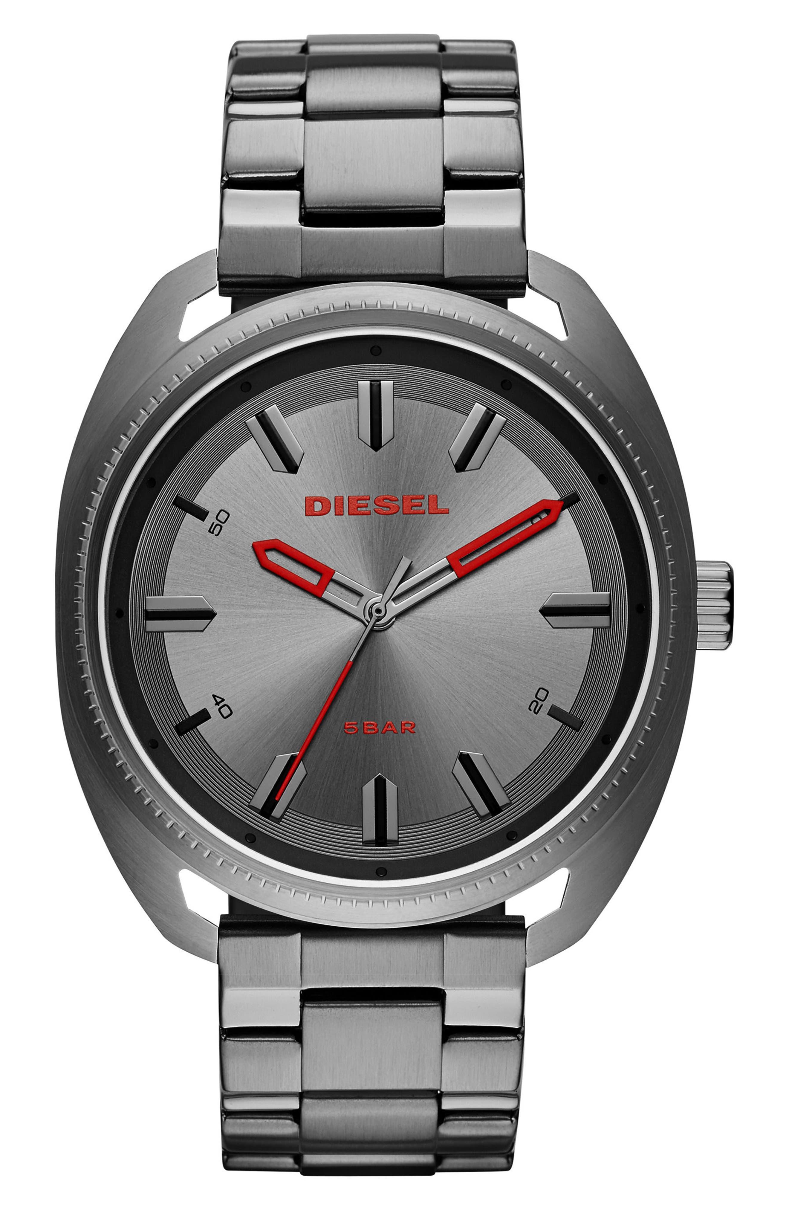 Fastbak Bracelet Watch, 46mm x 52mm,                         Main,                         color, Gunmetal/ Gunmetal