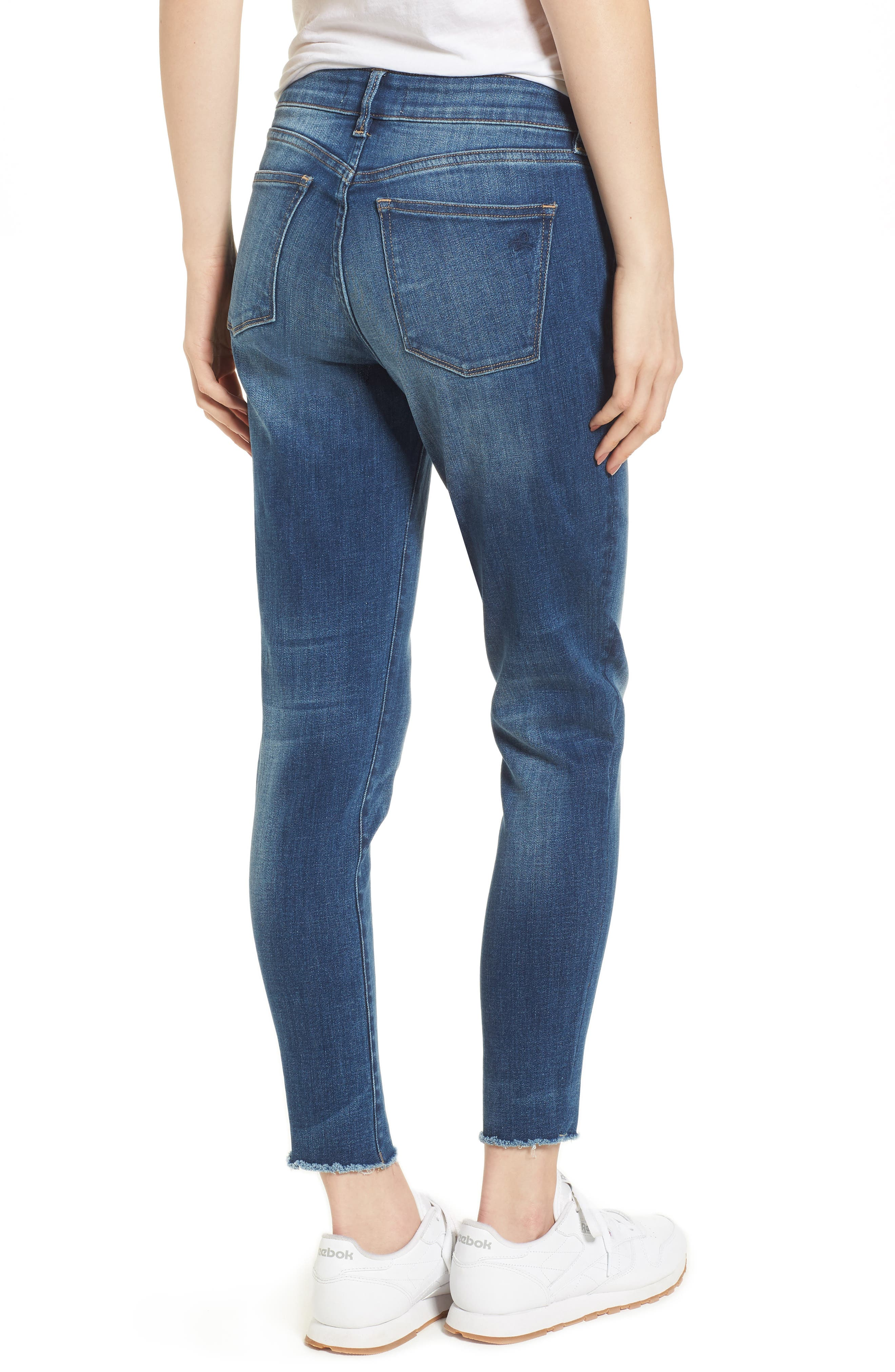 Coco Curvy Ankle Skinny Jeans,                             Alternate thumbnail 2, color,                             Callahan