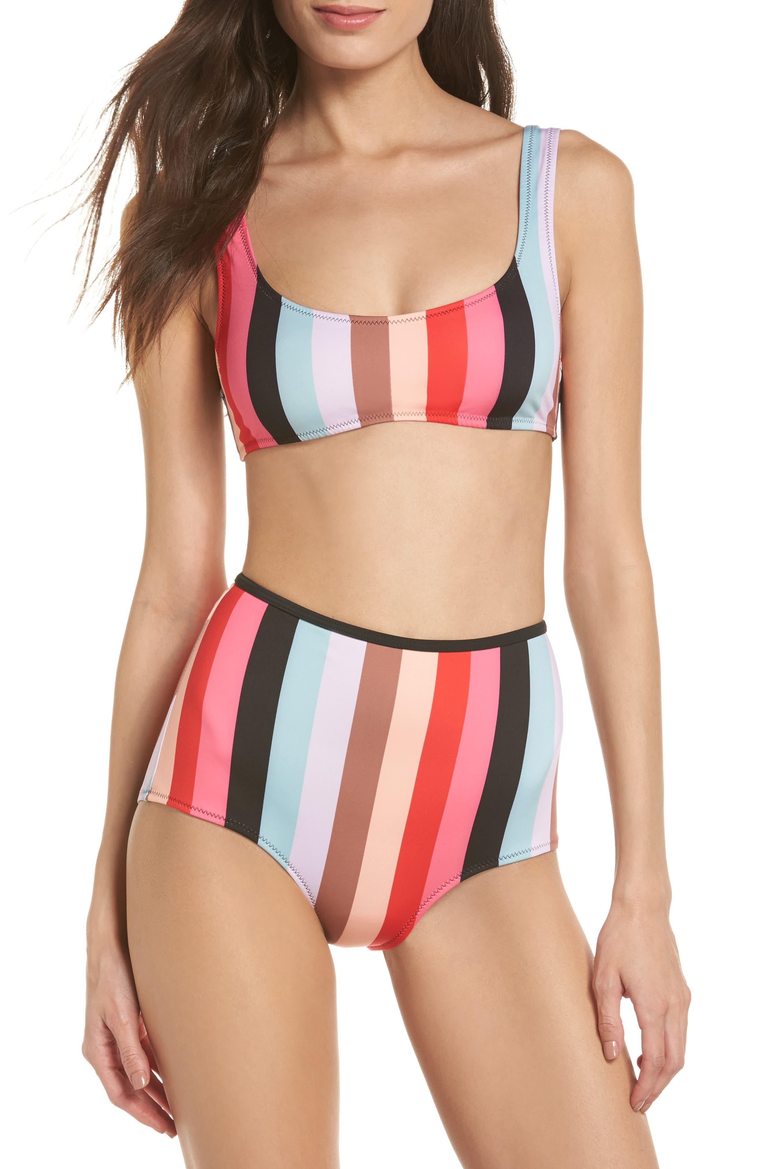 The Elle Bikini Top,                             Alternate thumbnail 5, color,                             Red Multi