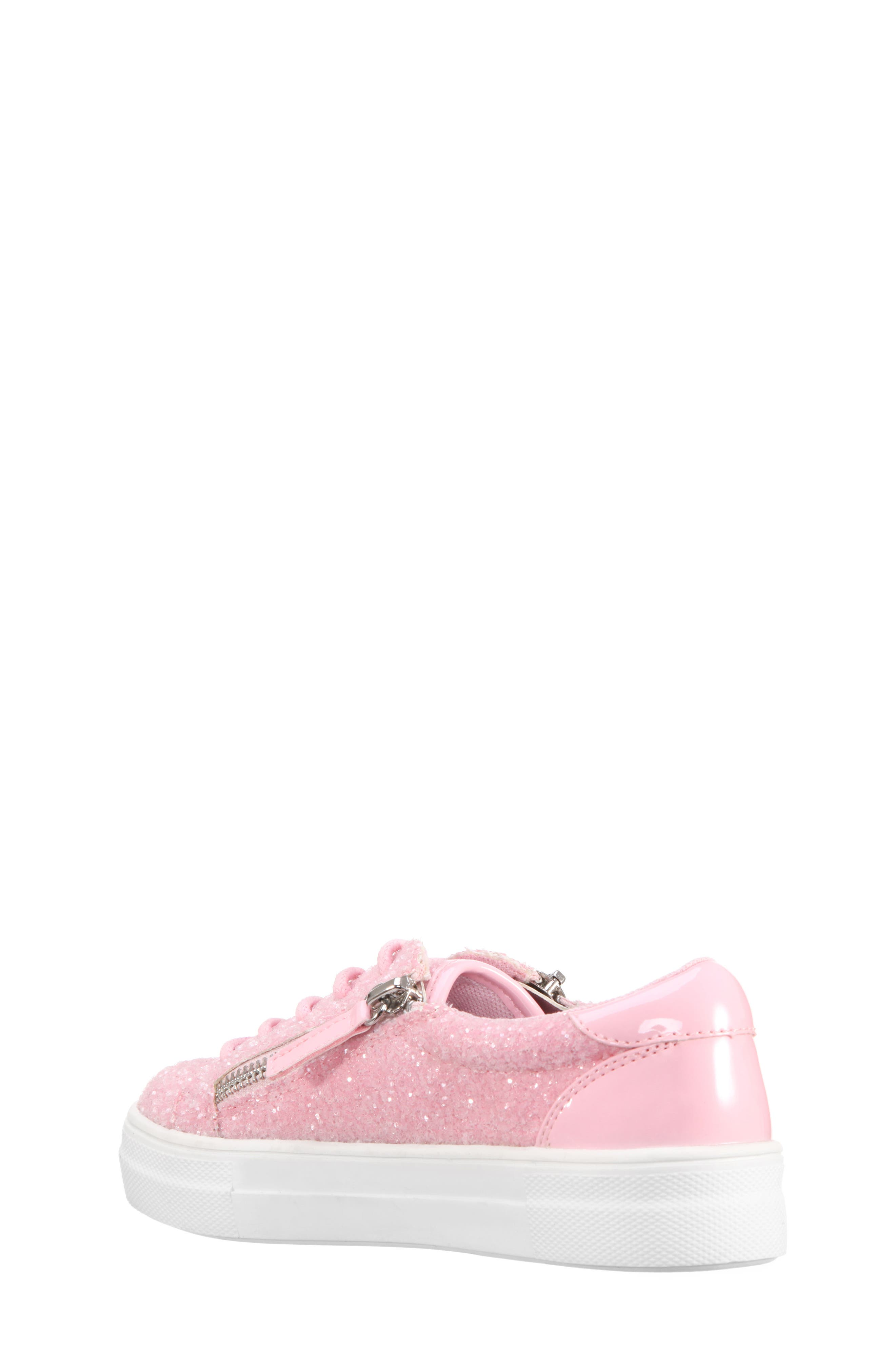 Jennalyn Glitter Sneaker,                             Alternate thumbnail 2, color,                             Light Pink Chunky Glitter