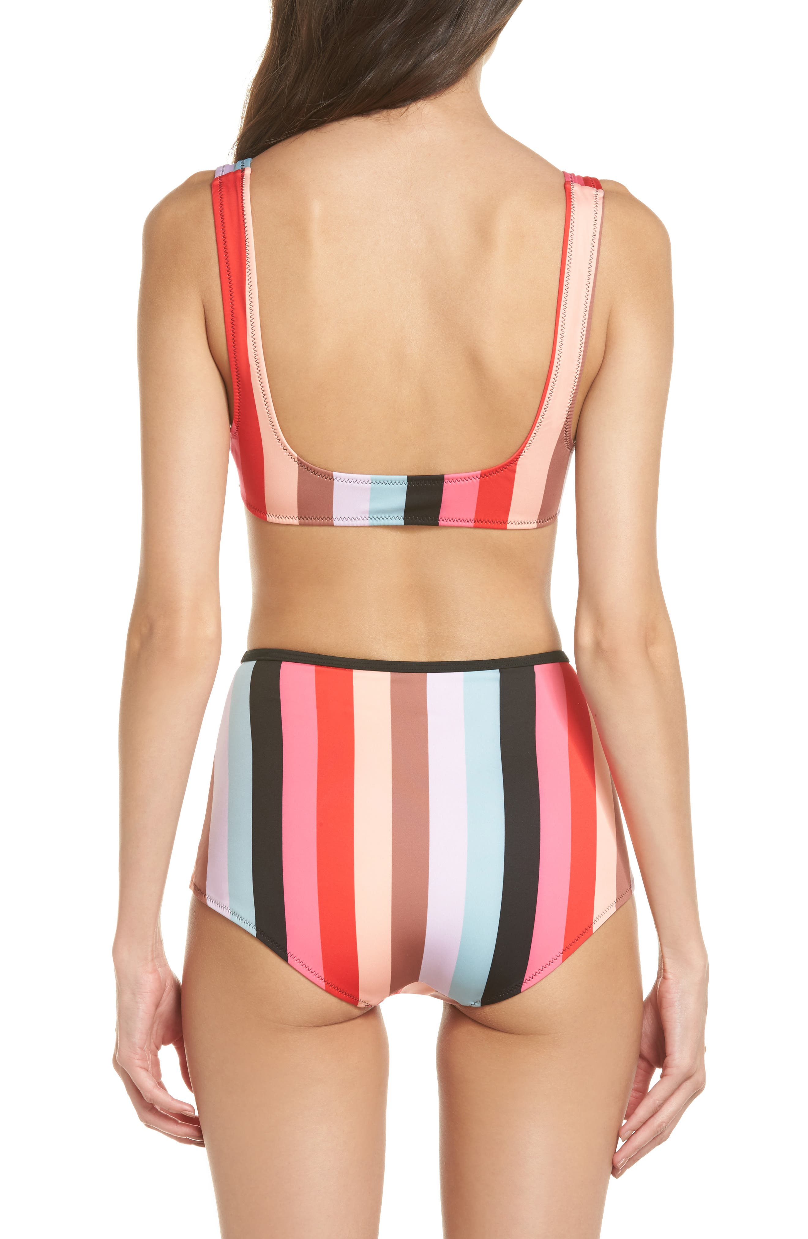 The Brigitte Bikini Bottoms,                             Alternate thumbnail 6, color,                             Red Multi