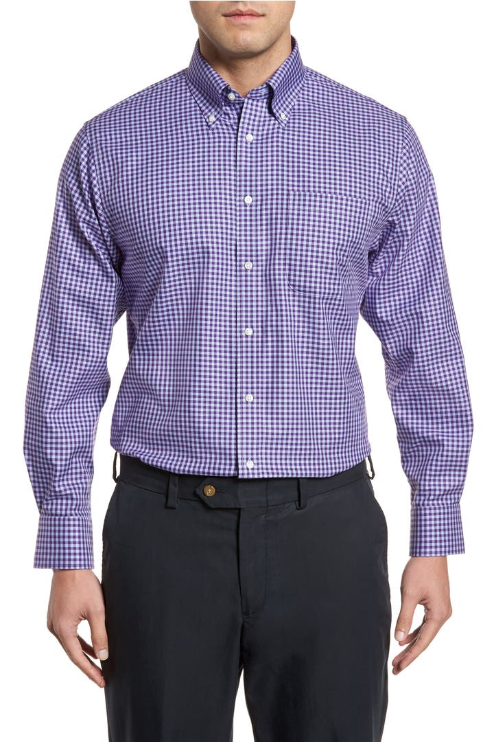 Nordstrom Men 39 S Shop Traditional Fit Non Iron Gingham