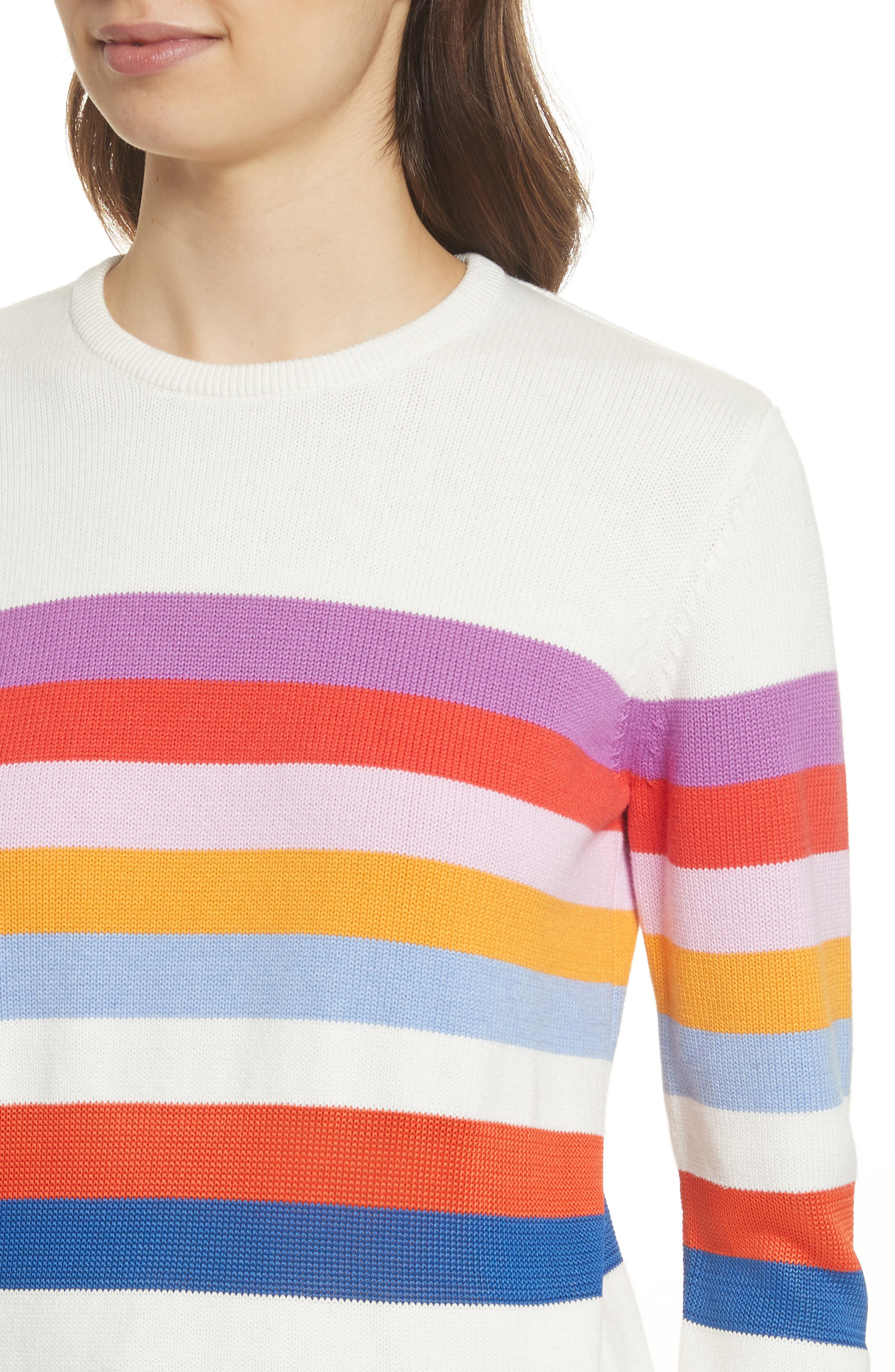 The Day Trip Stripe Sweater,                             Alternate thumbnail 4, color,                             Cream Multi