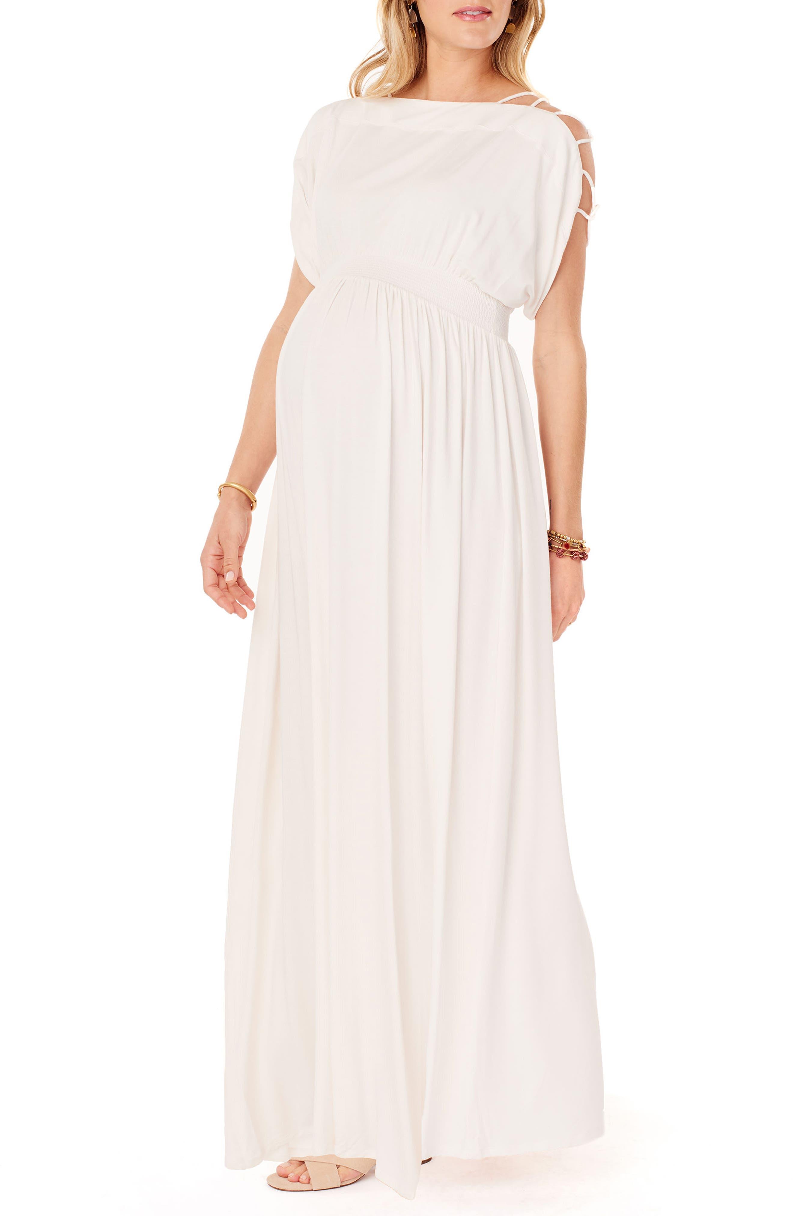 Empire waist maxi dress maternity