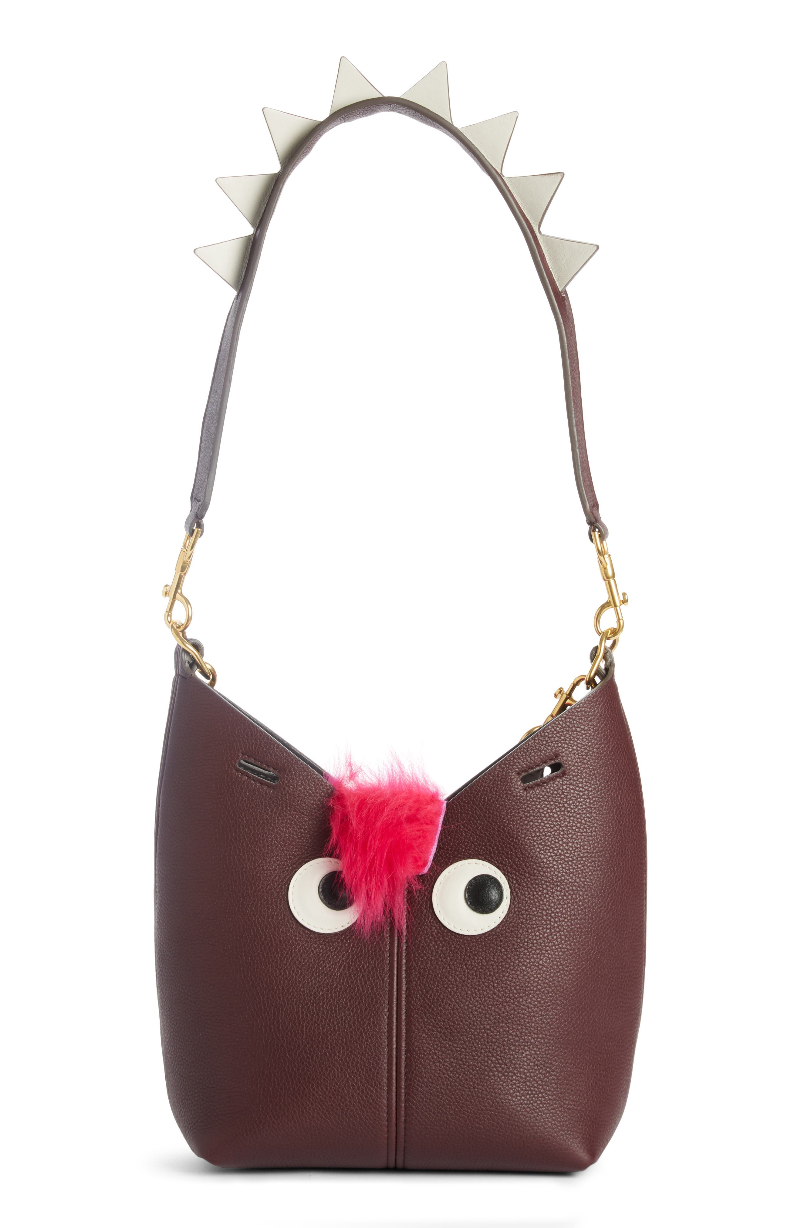 Alternate Image 4  - Anya Hindmarch Build a Bag Mini Creature Leather Shoulder Bag with Genuine Shearling