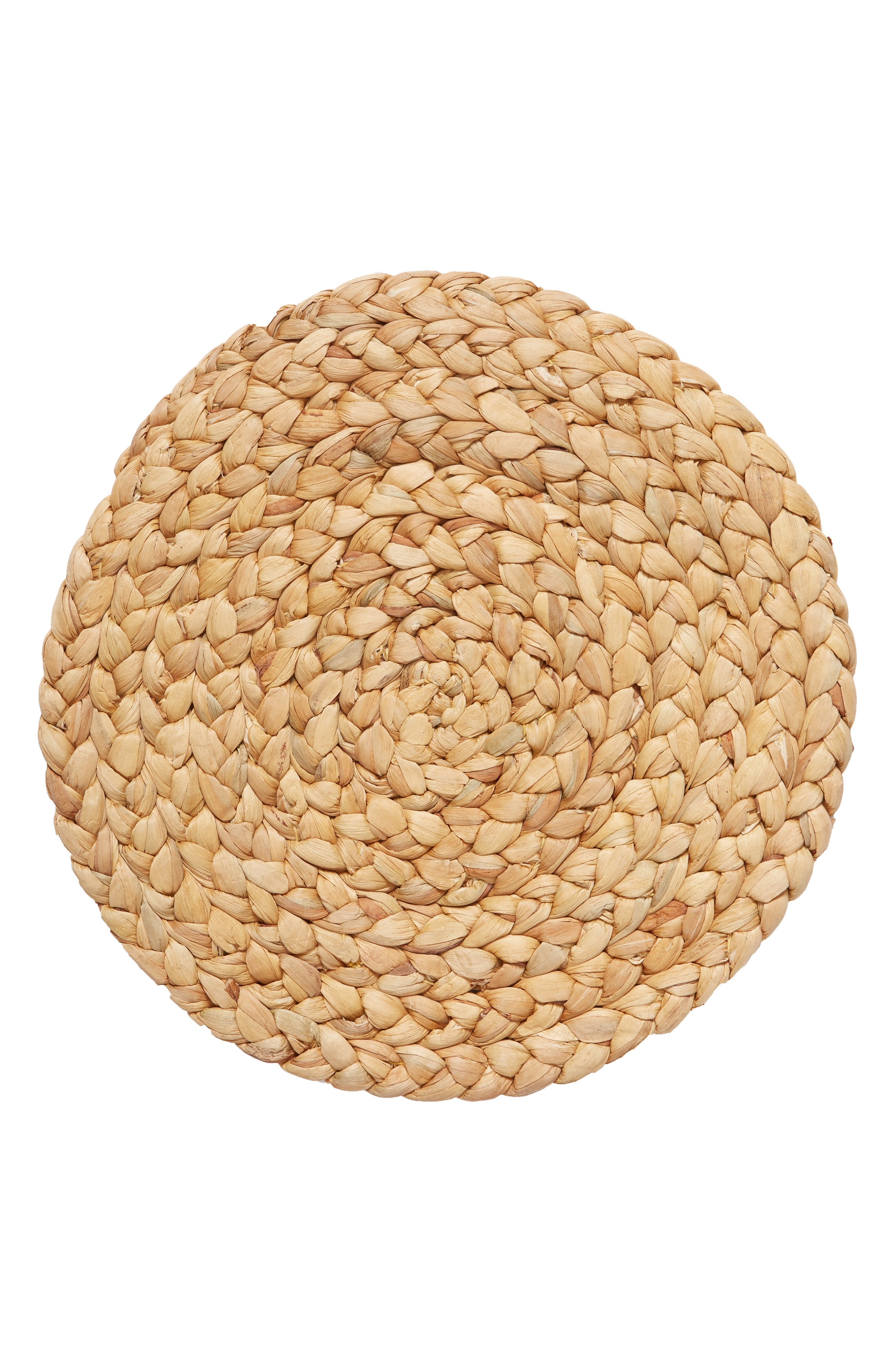 Round Woven Placemat,                         Main,                         color, Natural