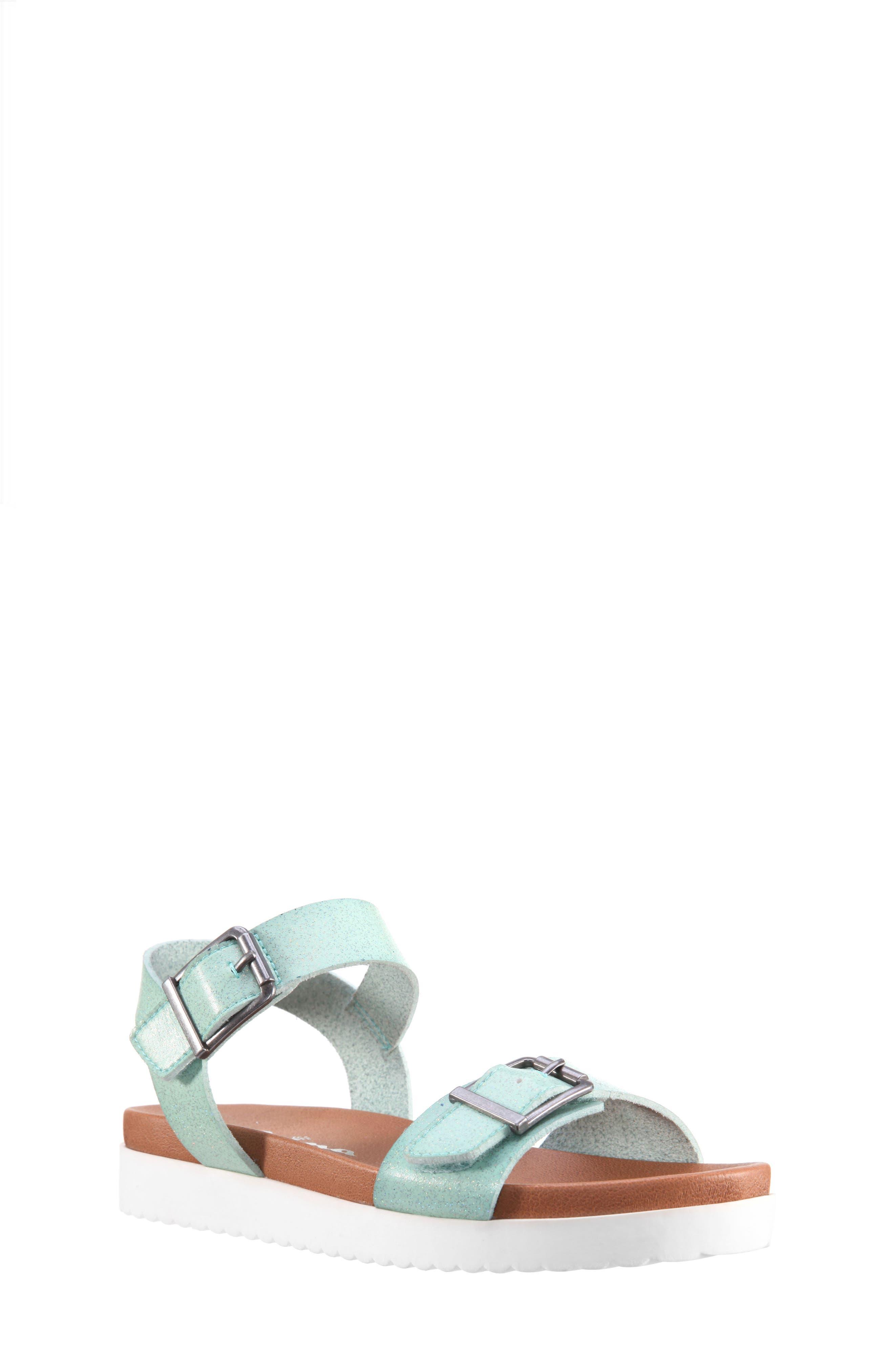 Jacklin3 Quarter Strap Sandal,                             Main thumbnail 1, color,                             Mint Dip Dye