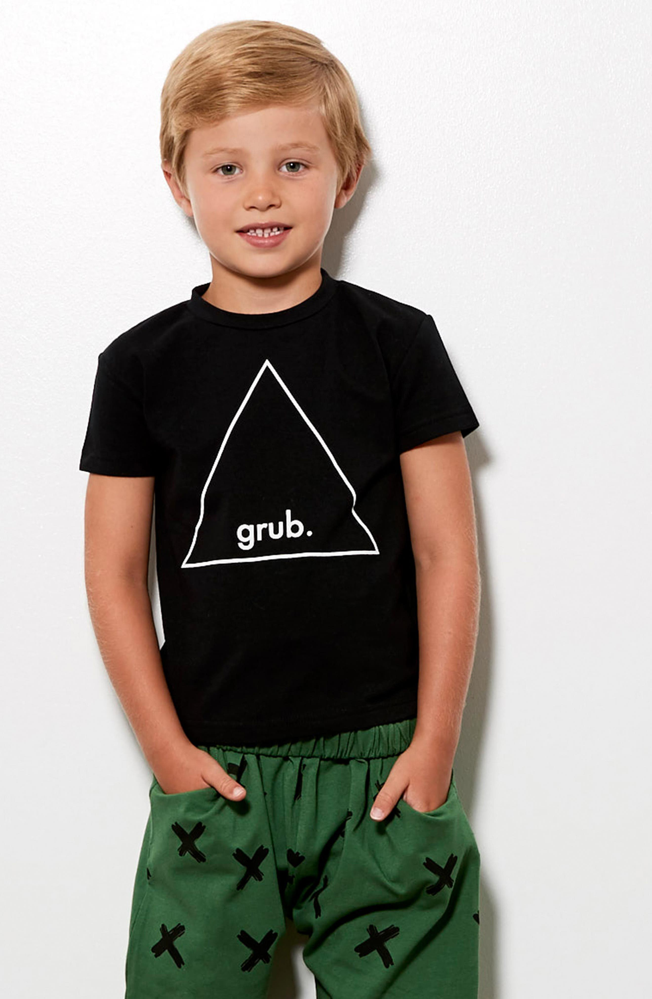 Grub Graphic T-Shirt,                             Alternate thumbnail 3, color,                             Black