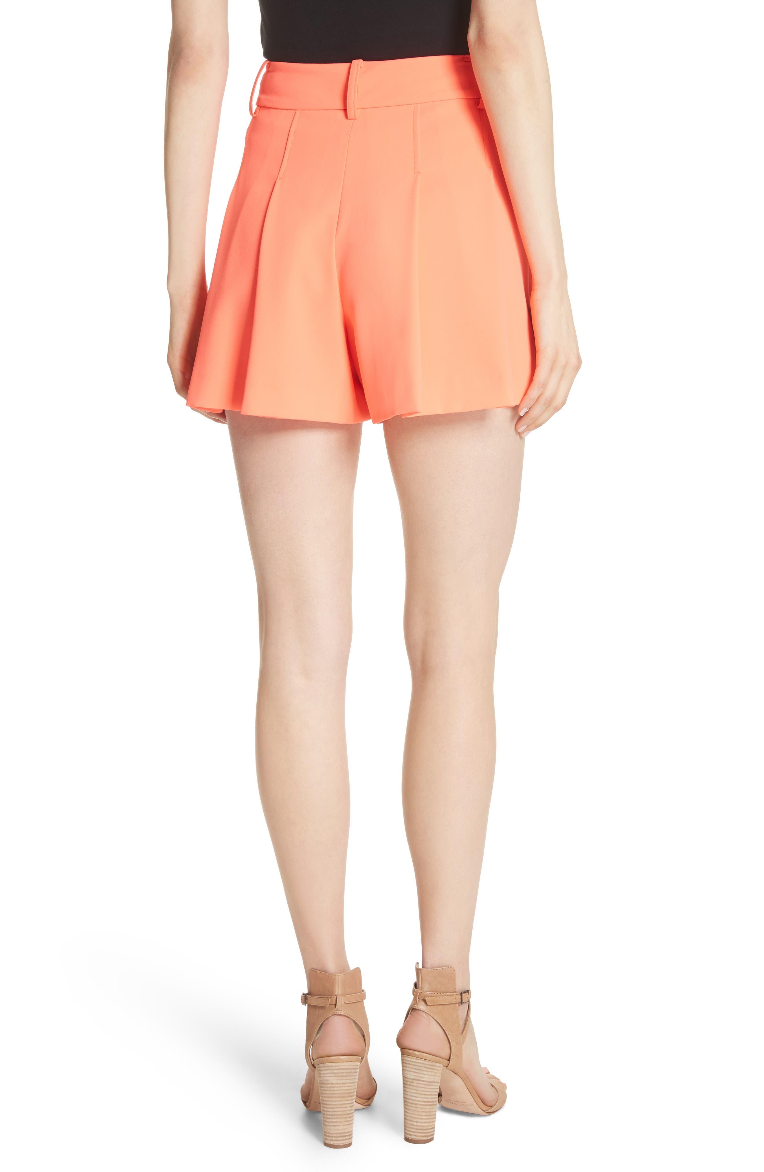 Scarlet Flutter Shorts,                             Alternate thumbnail 2, color,                             Neon Coral