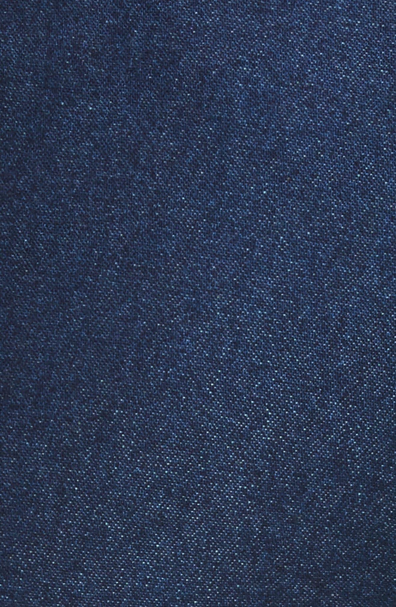 Mojave Side Panel Skinny Jeans,                             Alternate thumbnail 7, color,                             Dark Wash Denim