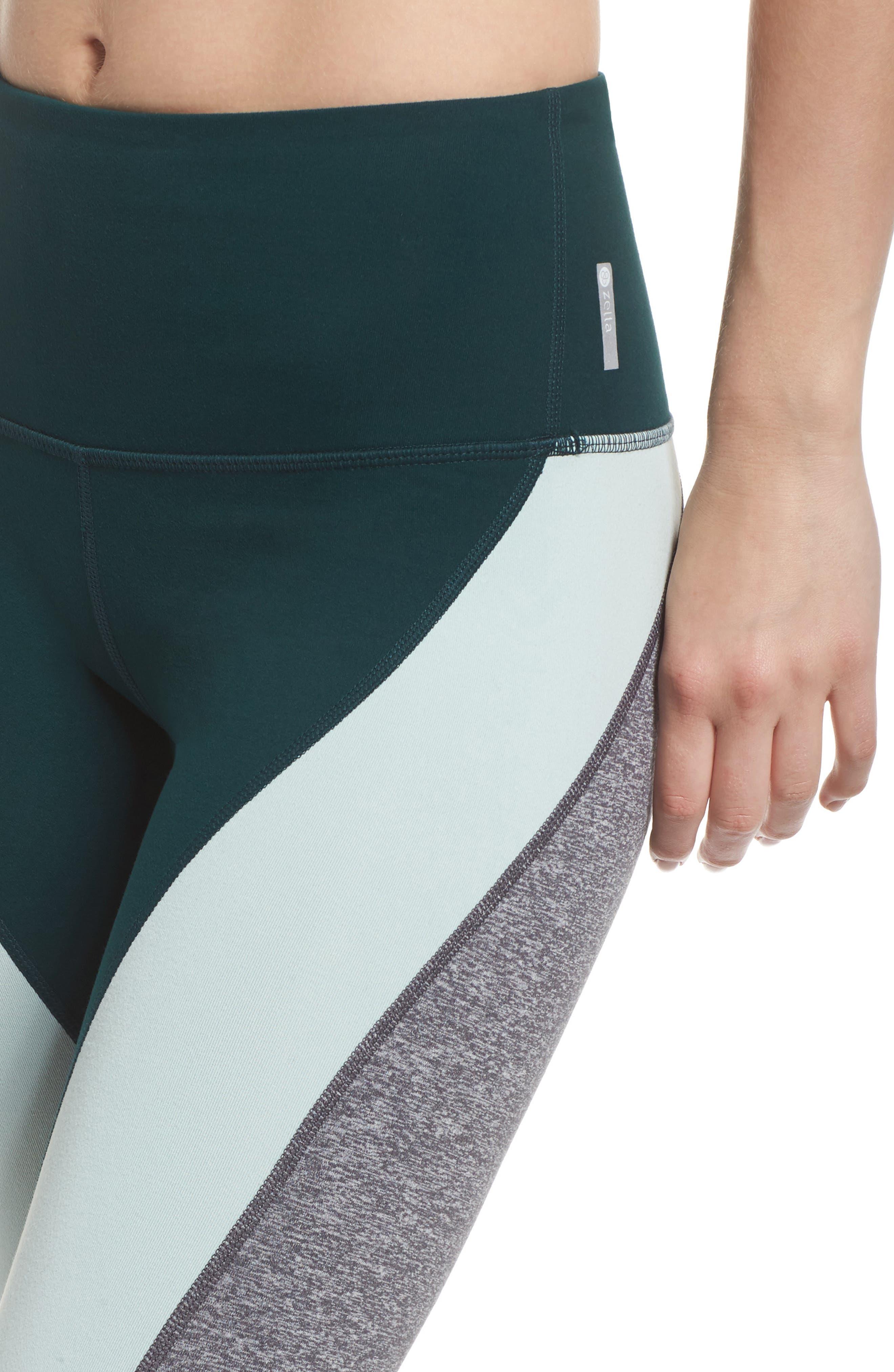 Get in Line High Waist Leggings,                             Alternate thumbnail 4, color,                             Green Ponderosa