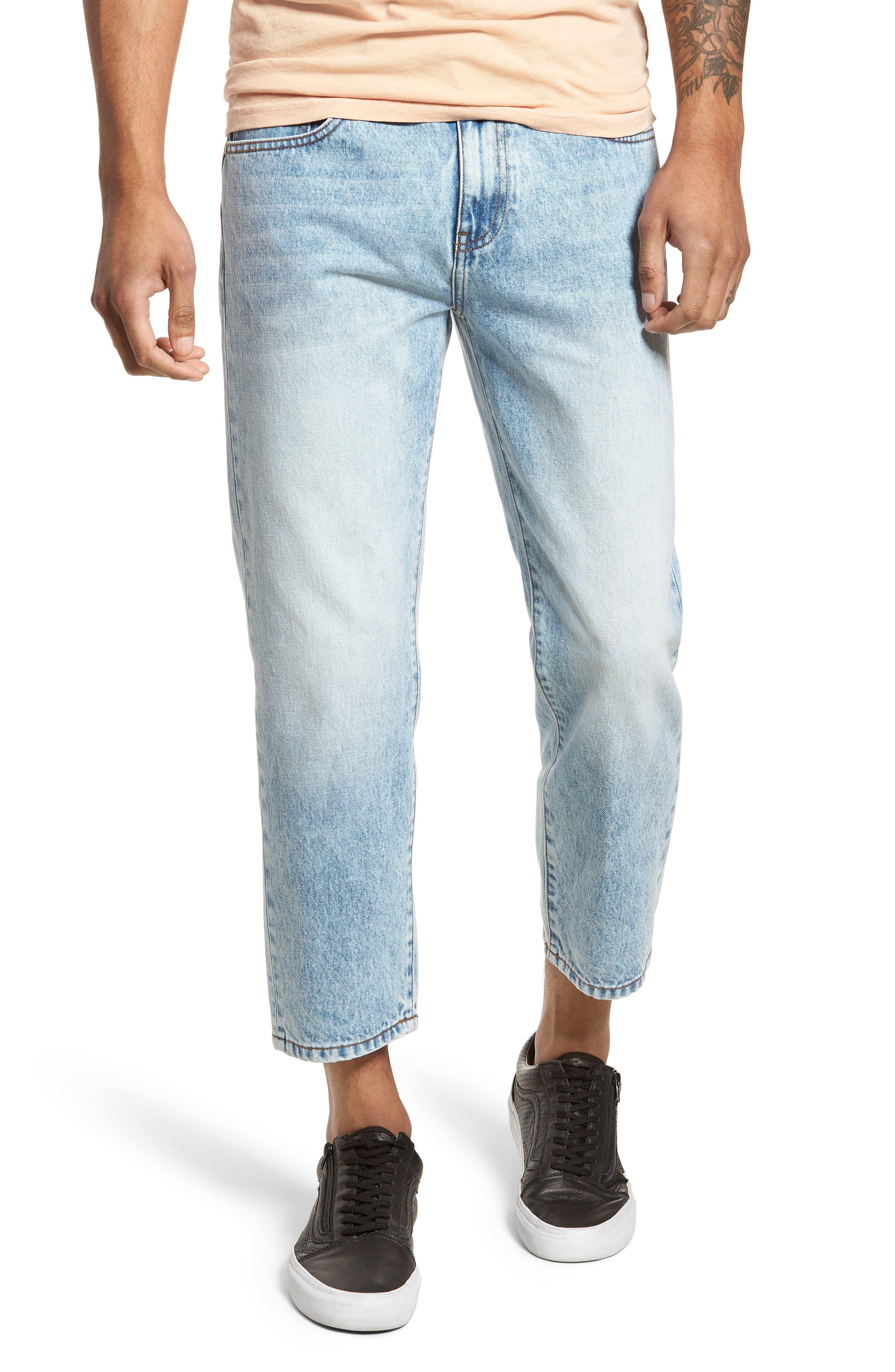 Otis Straight Leg Jeans,                             Main thumbnail 1, color,                             Light Blue Wash