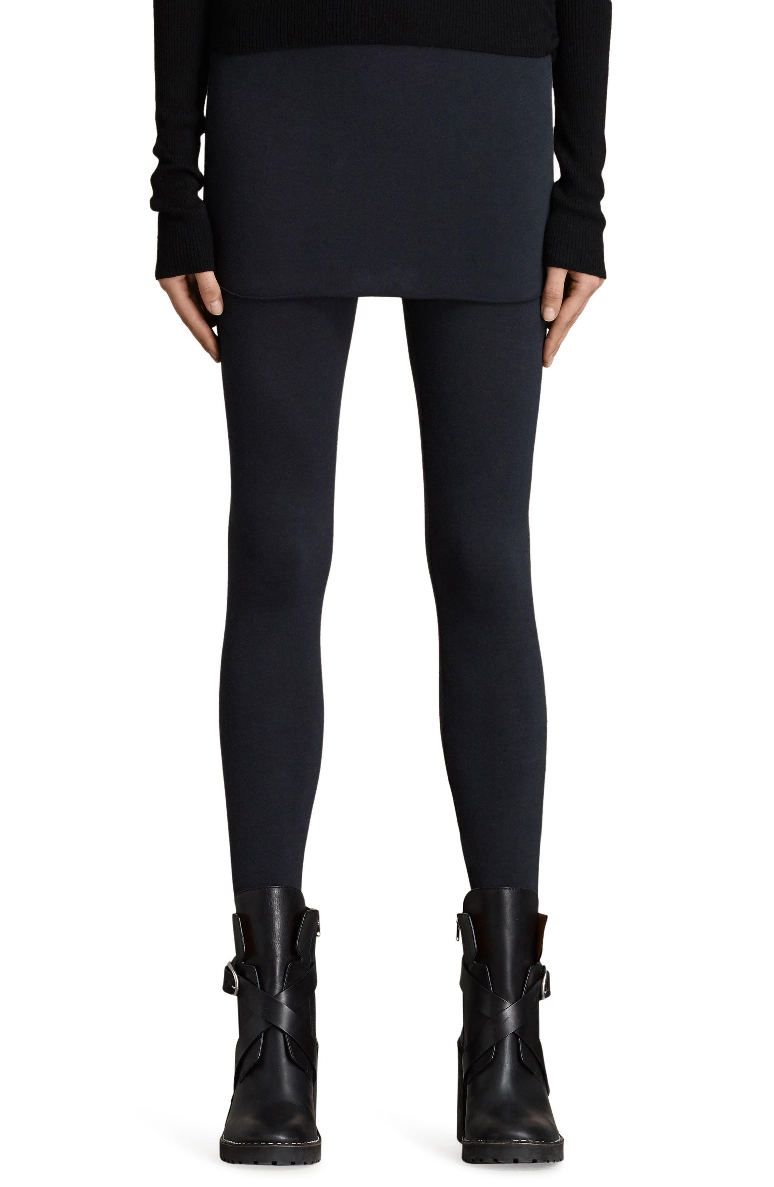 Raffi Skirted Leggings,                         Main,                         color, Black