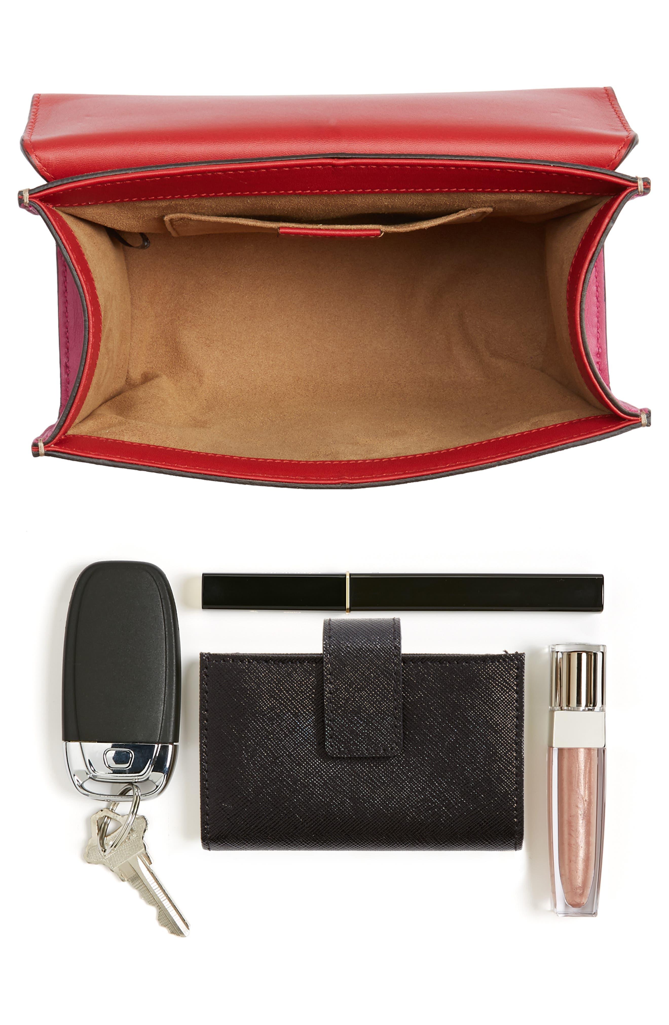 Small Padlock Shoulder Bag,                             Alternate thumbnail 6, color,