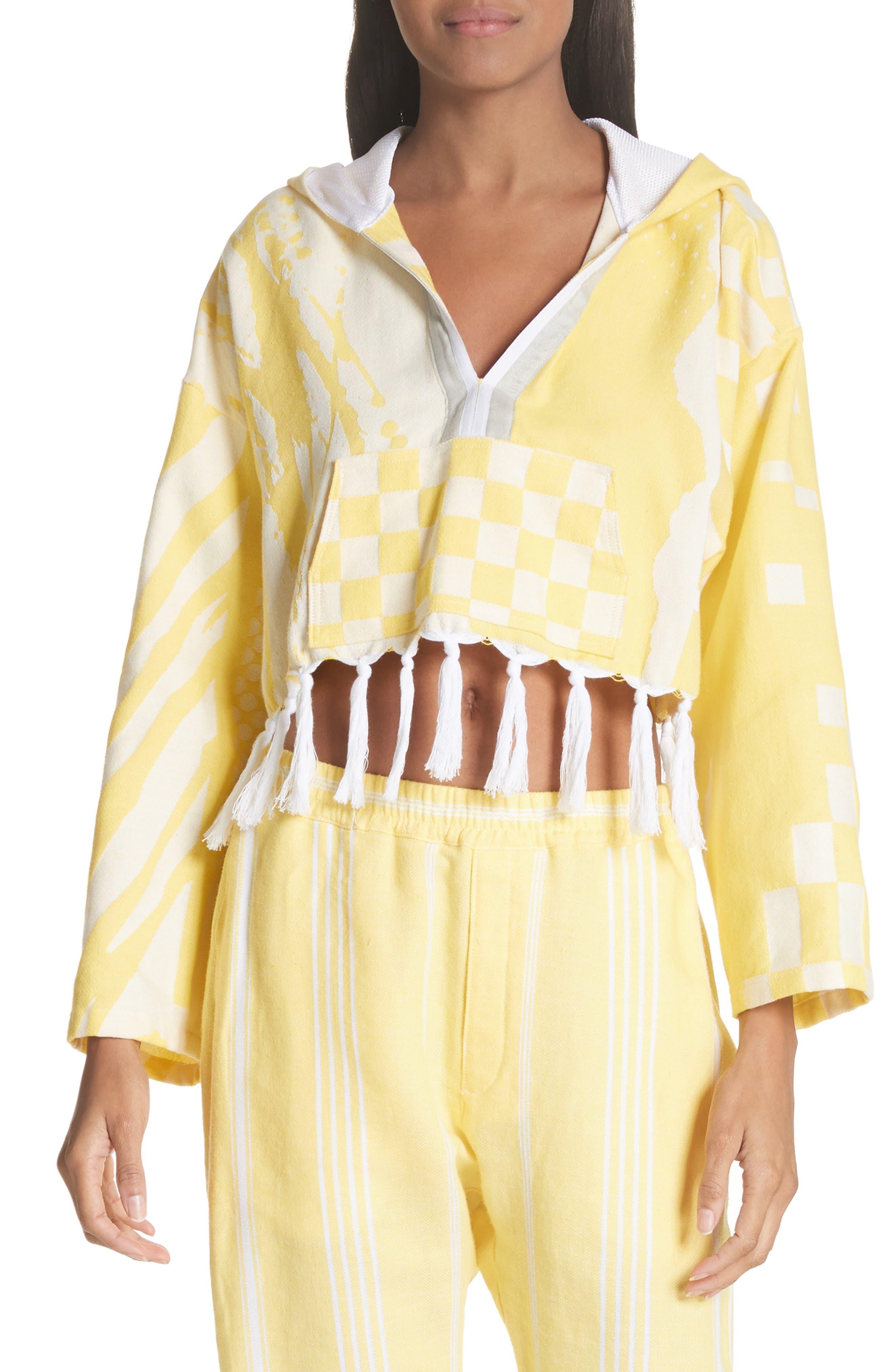 Baja Cotton Crop Hoodie,                         Main,                         color, Yellow