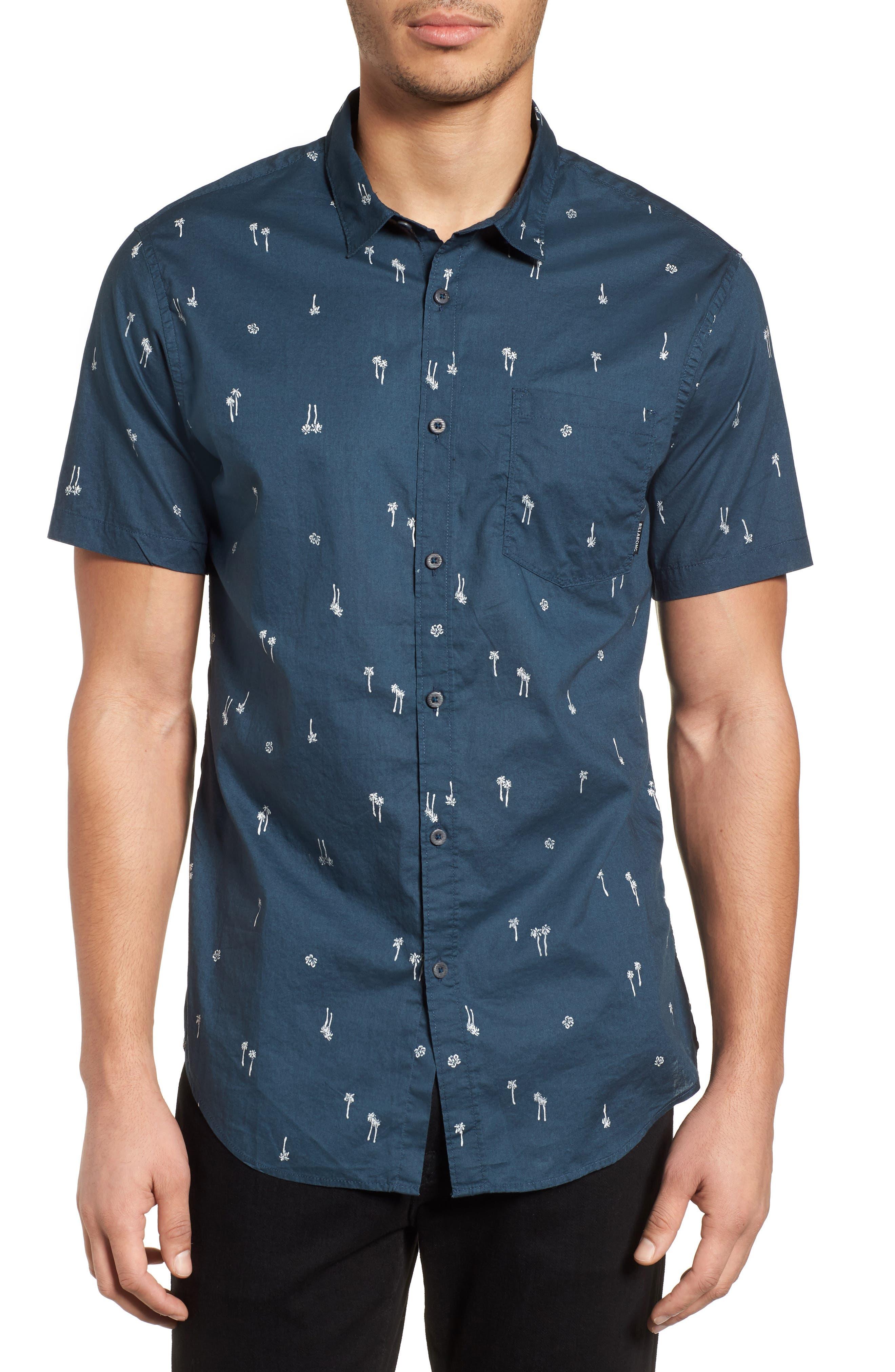 Sundays Mini Short Sleeve Shirt,                         Main,                         color, Navy