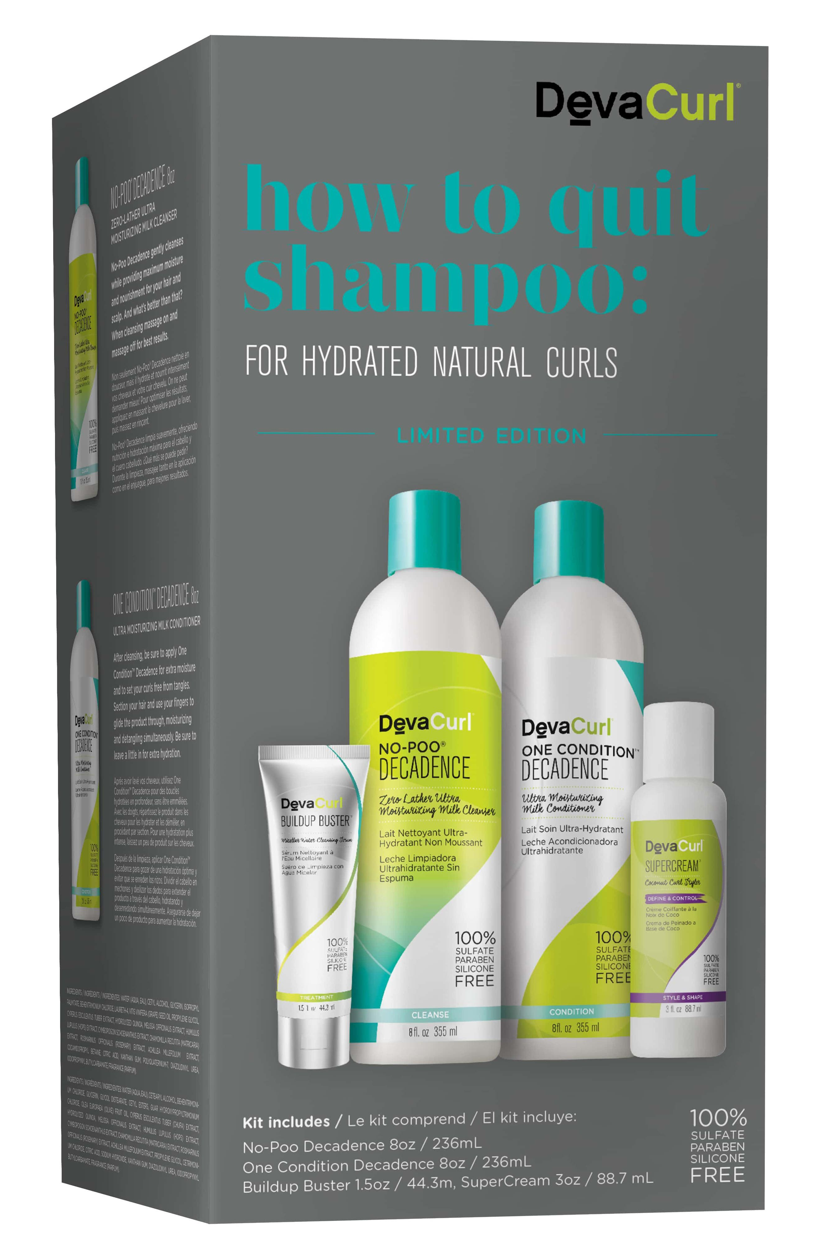 How to Quit Shampoo for Hydrated Natural Curls Kit,                             Main thumbnail 1, color,                             No Color