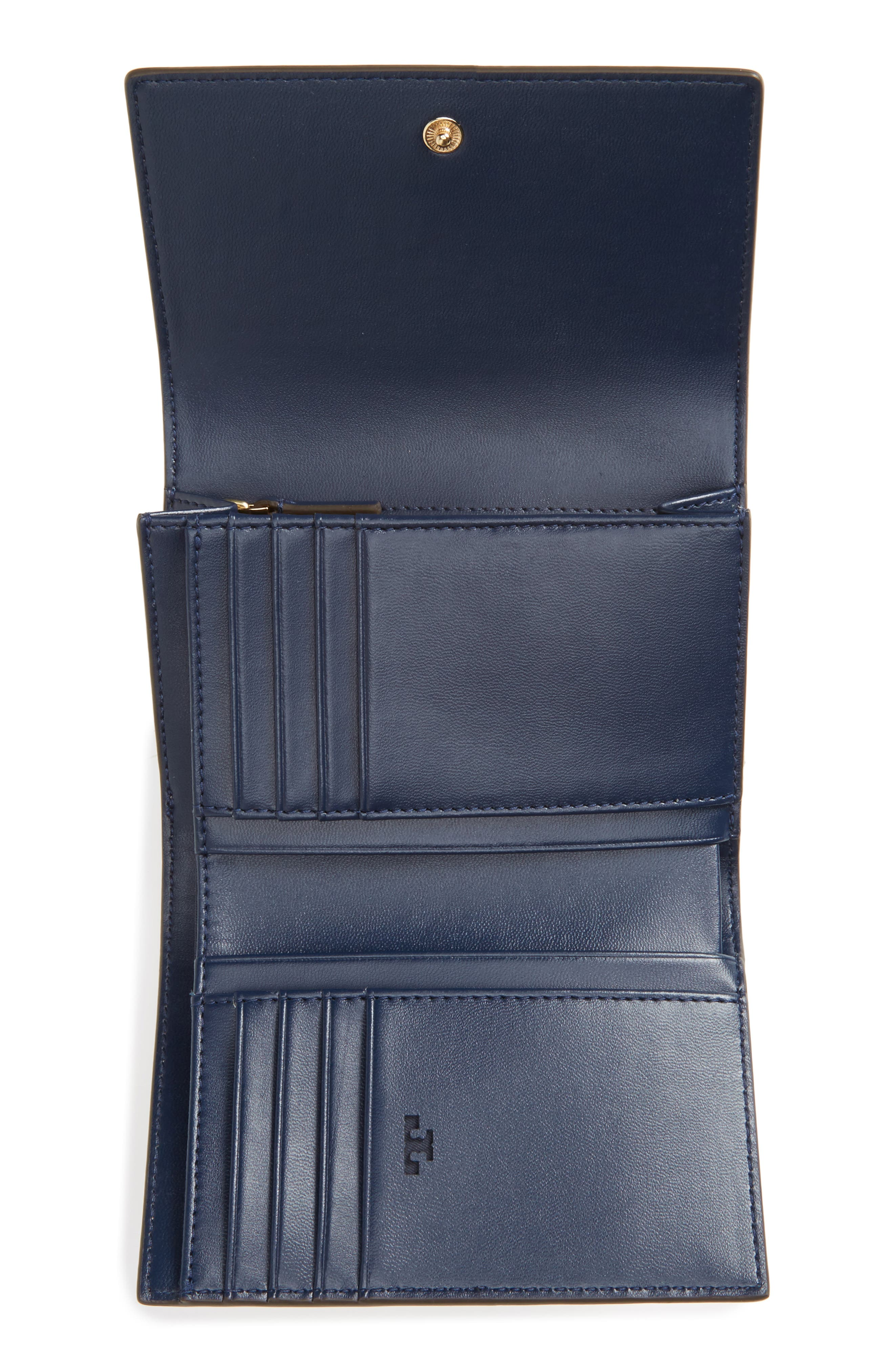 Robinson Medium Leather Wallet,                             Alternate thumbnail 2, color,                             Pale Apricot / Royal Navy
