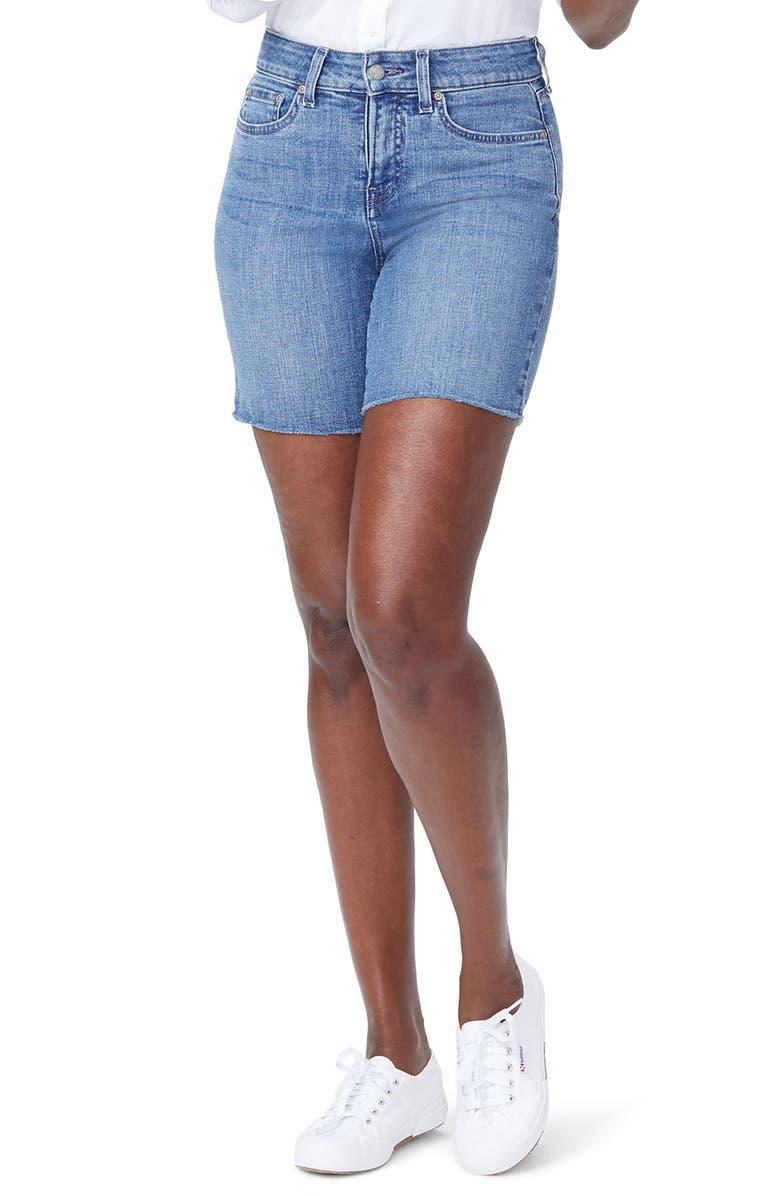 Jenna Frayed Denim Shorts