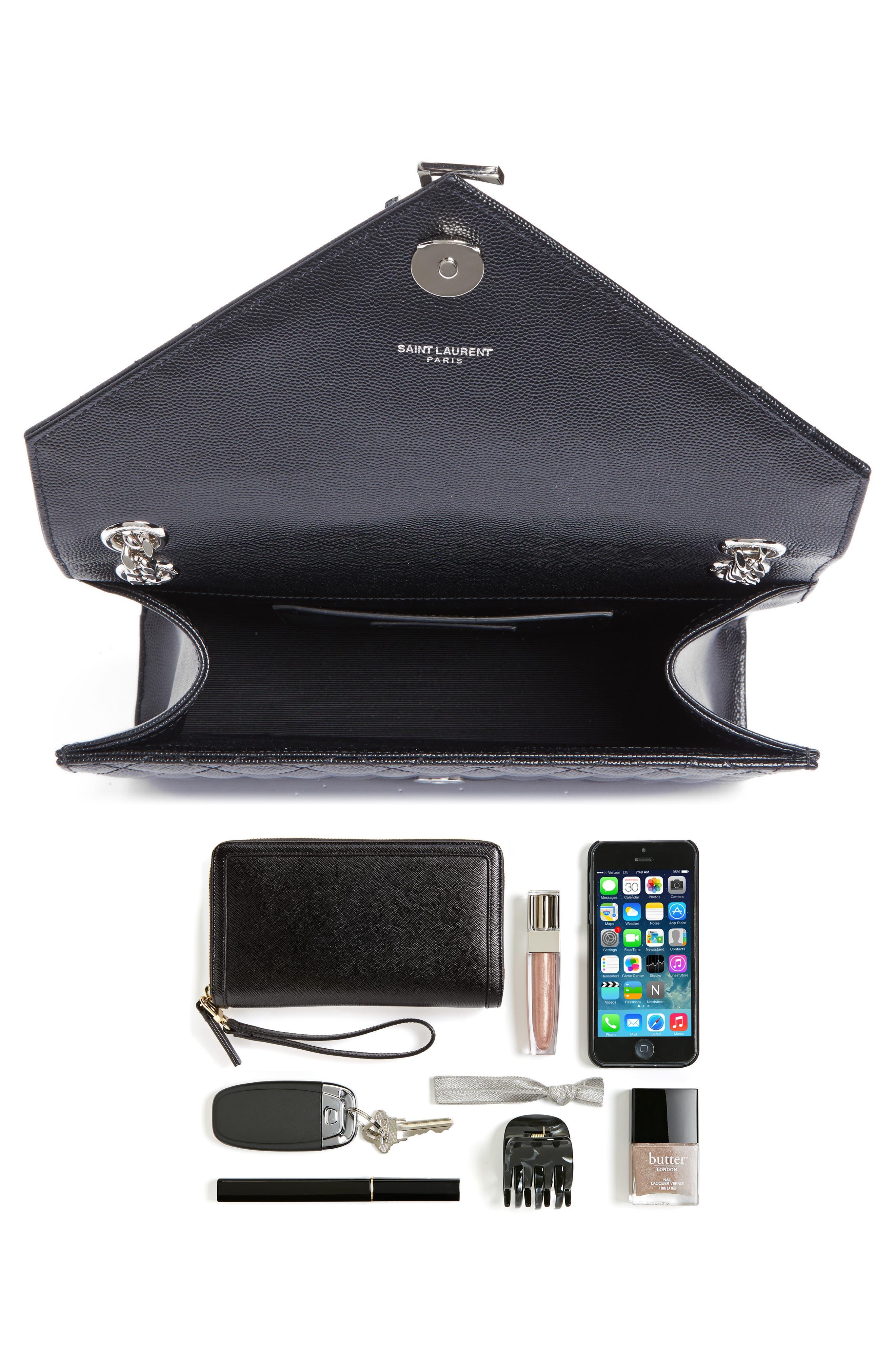Alternate Image 7  - Saint Laurent Medium Monogram Quilted Leather Shoulder Bag