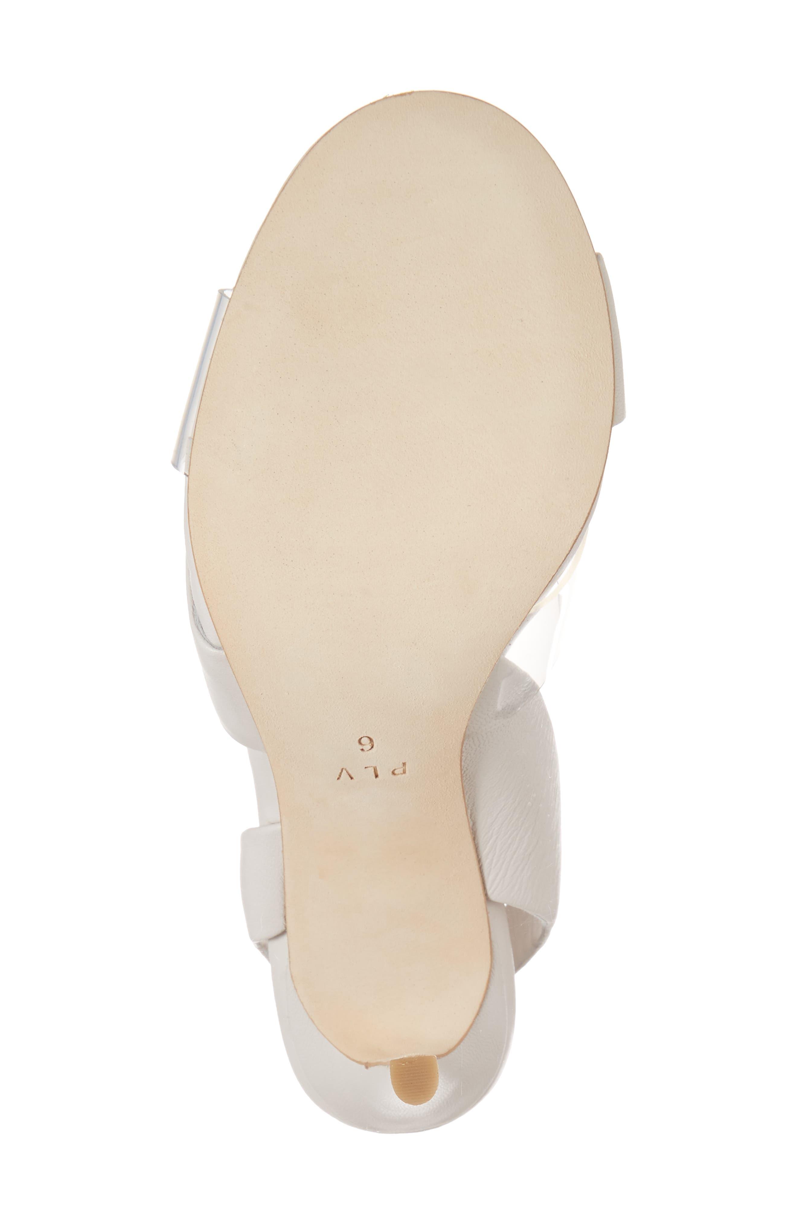 Elly Slingback Sandal,                             Alternate thumbnail 6, color,                             Ivory Leather