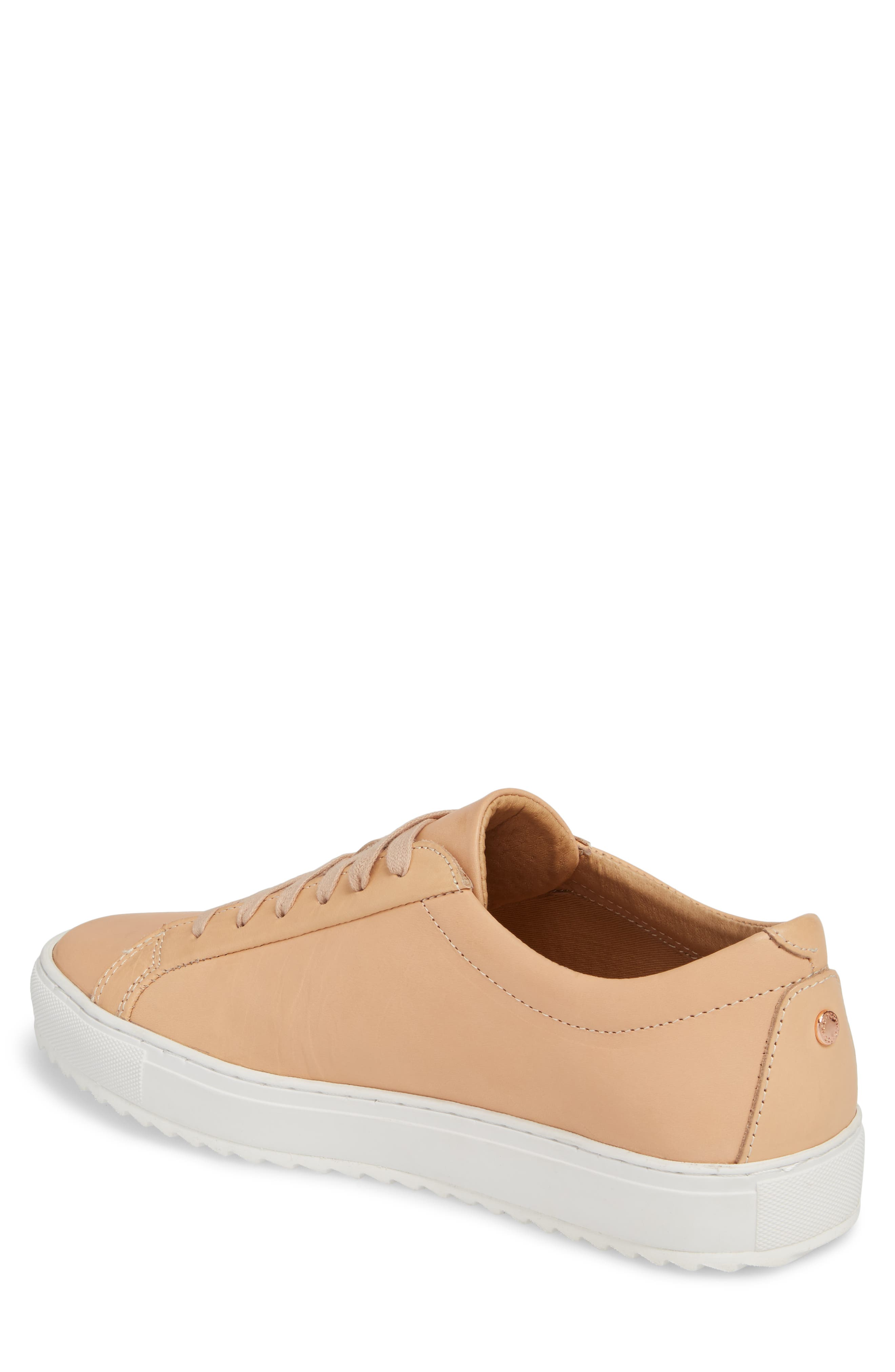 Kennedy Lugged Sneaker,                             Alternate thumbnail 2, color,                             Natural Leather