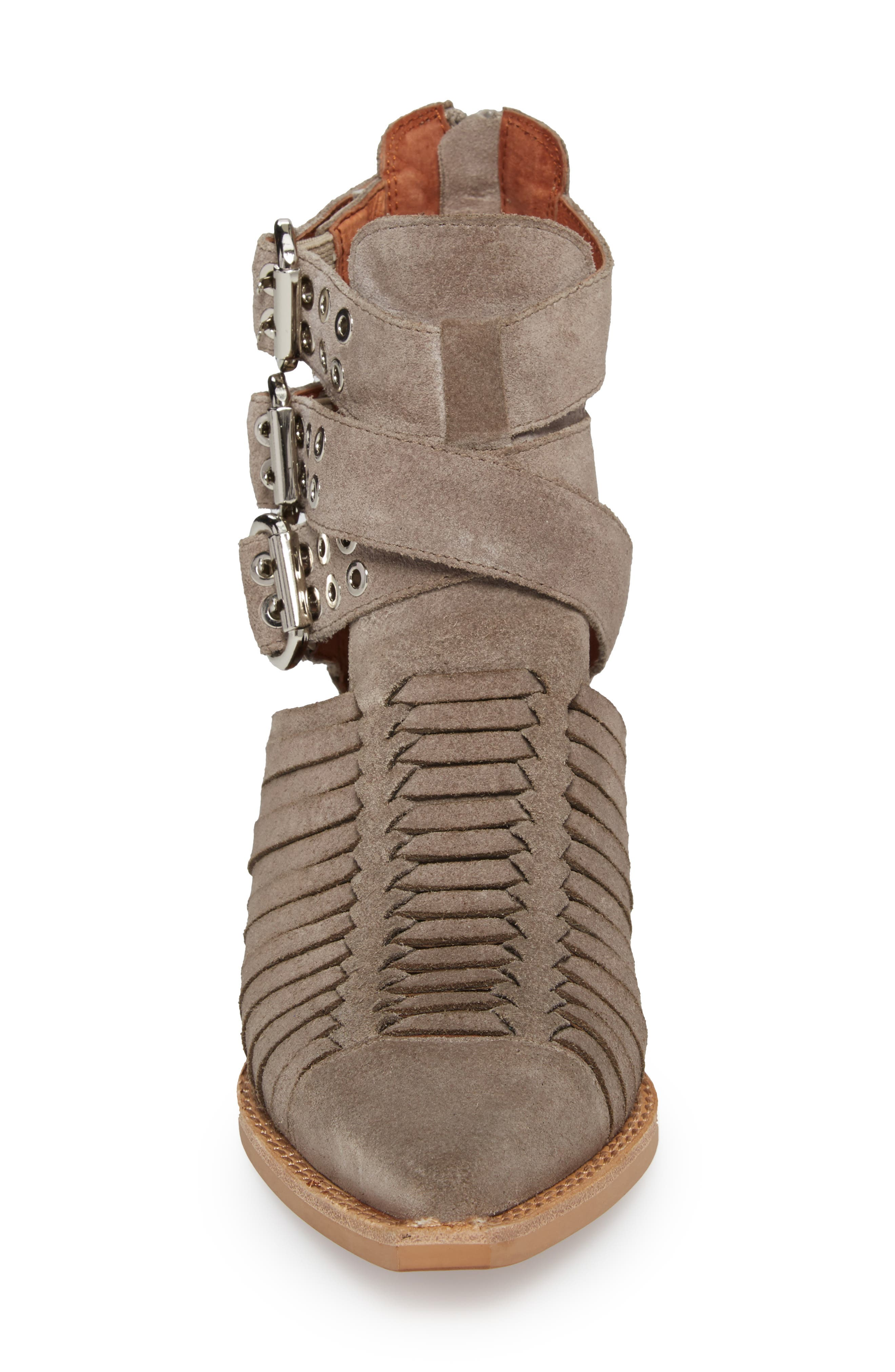 Jamison Bootie,                             Alternate thumbnail 4, color,                             Taupe Oiled Suede