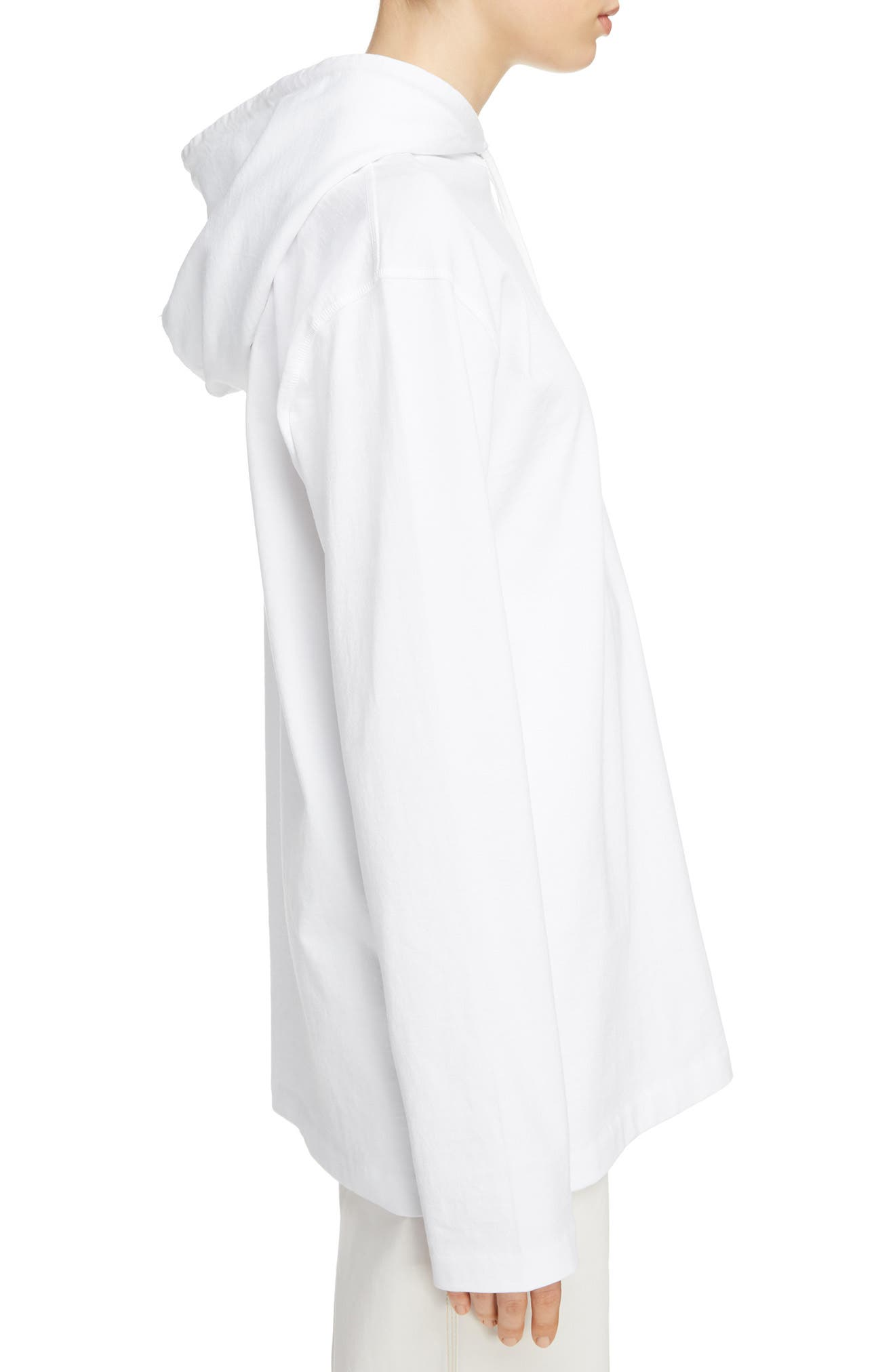Lilly Drawstring Hoodie,                             Alternate thumbnail 3, color,                             Optic White